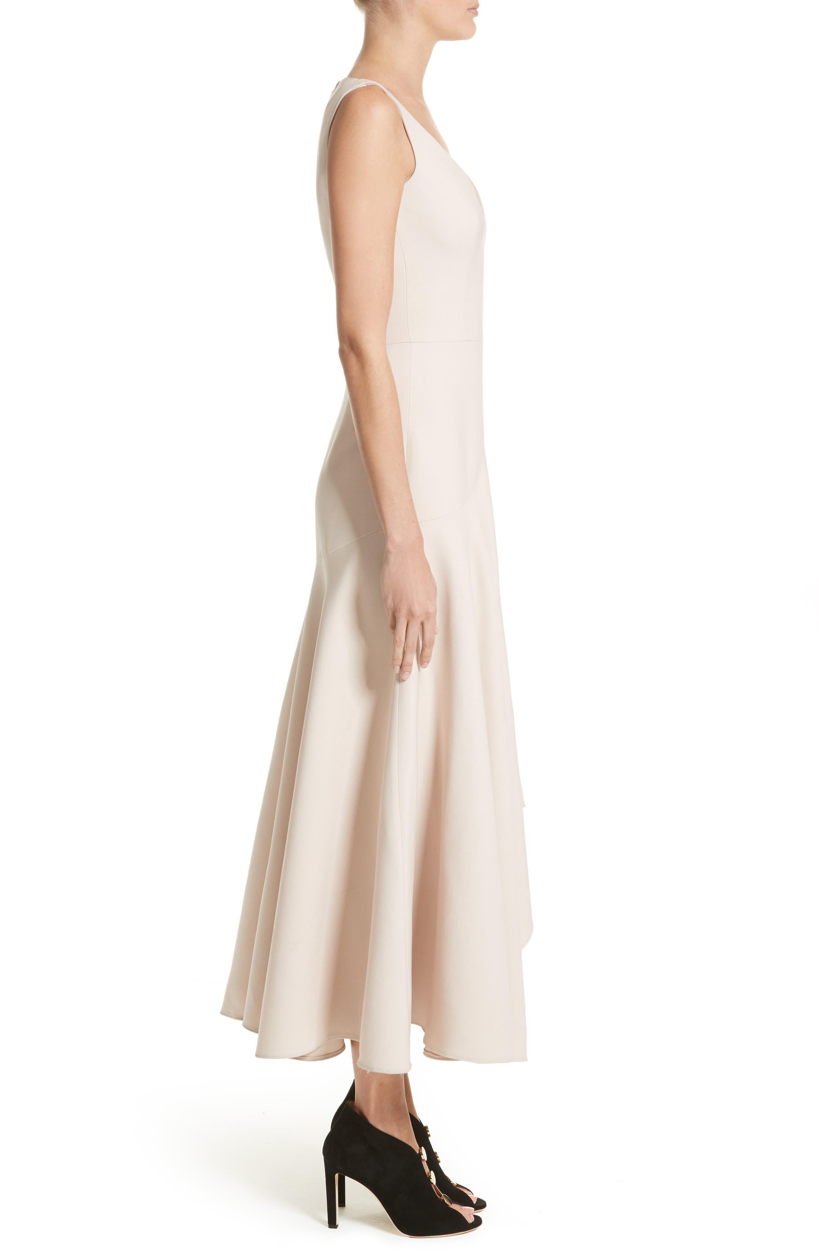 Silk Asymmetrical Dress,                             Alternate thumbnail 3, color,                             020