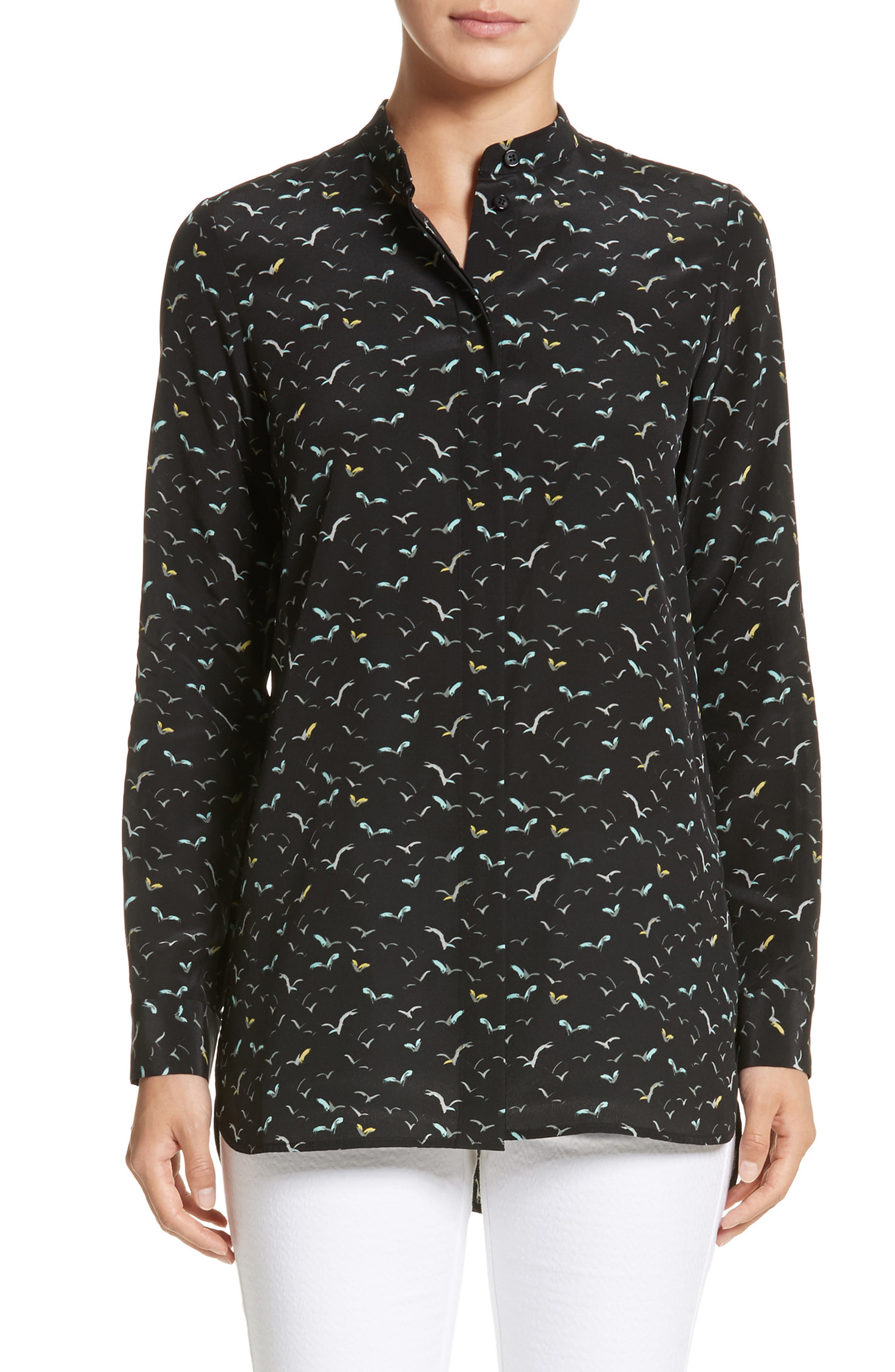 LAFAYETTE 148 NEW YORK,                             Brayden Print Silk Blouse,                             Main thumbnail 1, color,                             001
