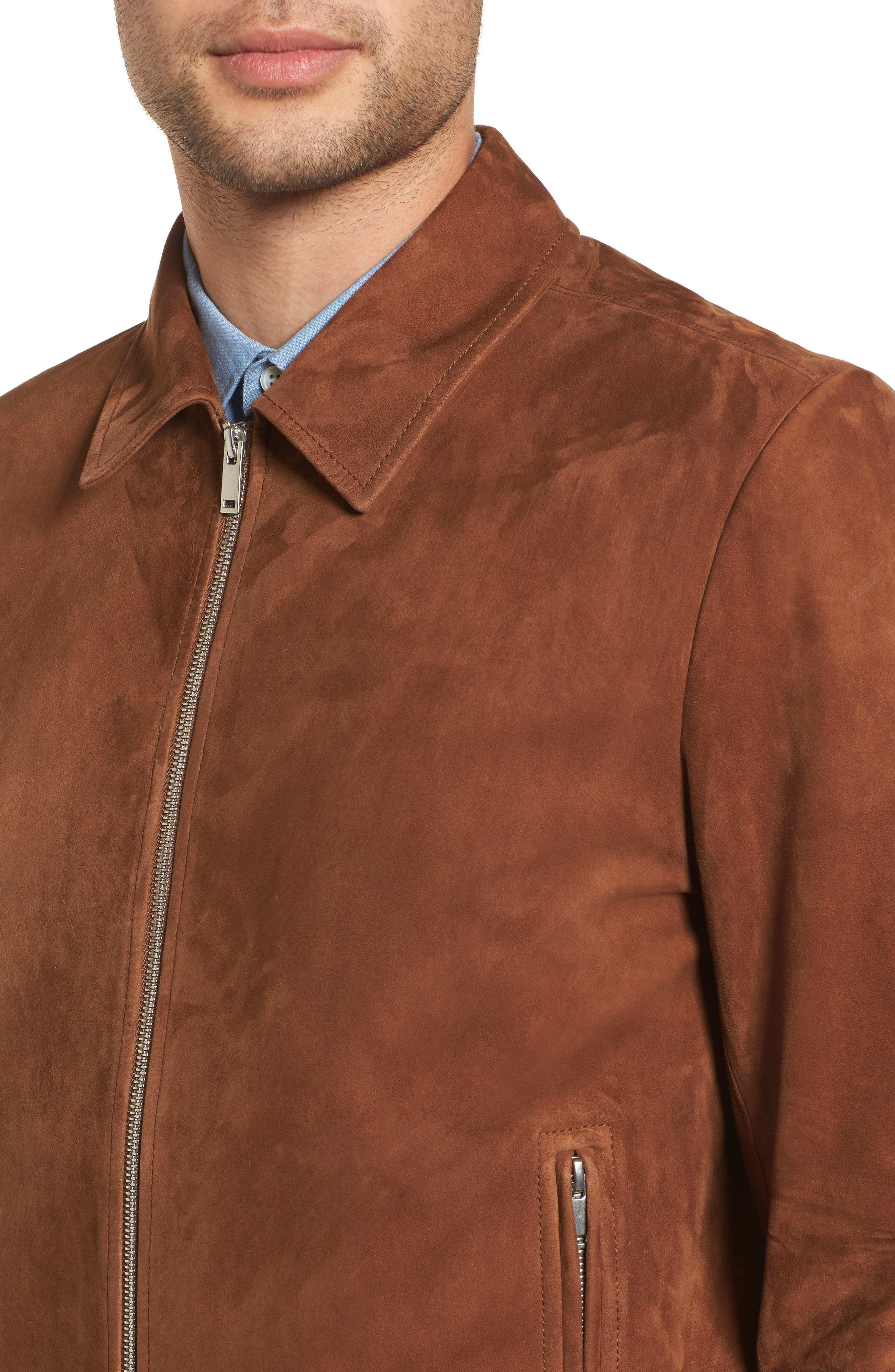Noland Radic Lambskin Jacket,                             Alternate thumbnail 4, color,