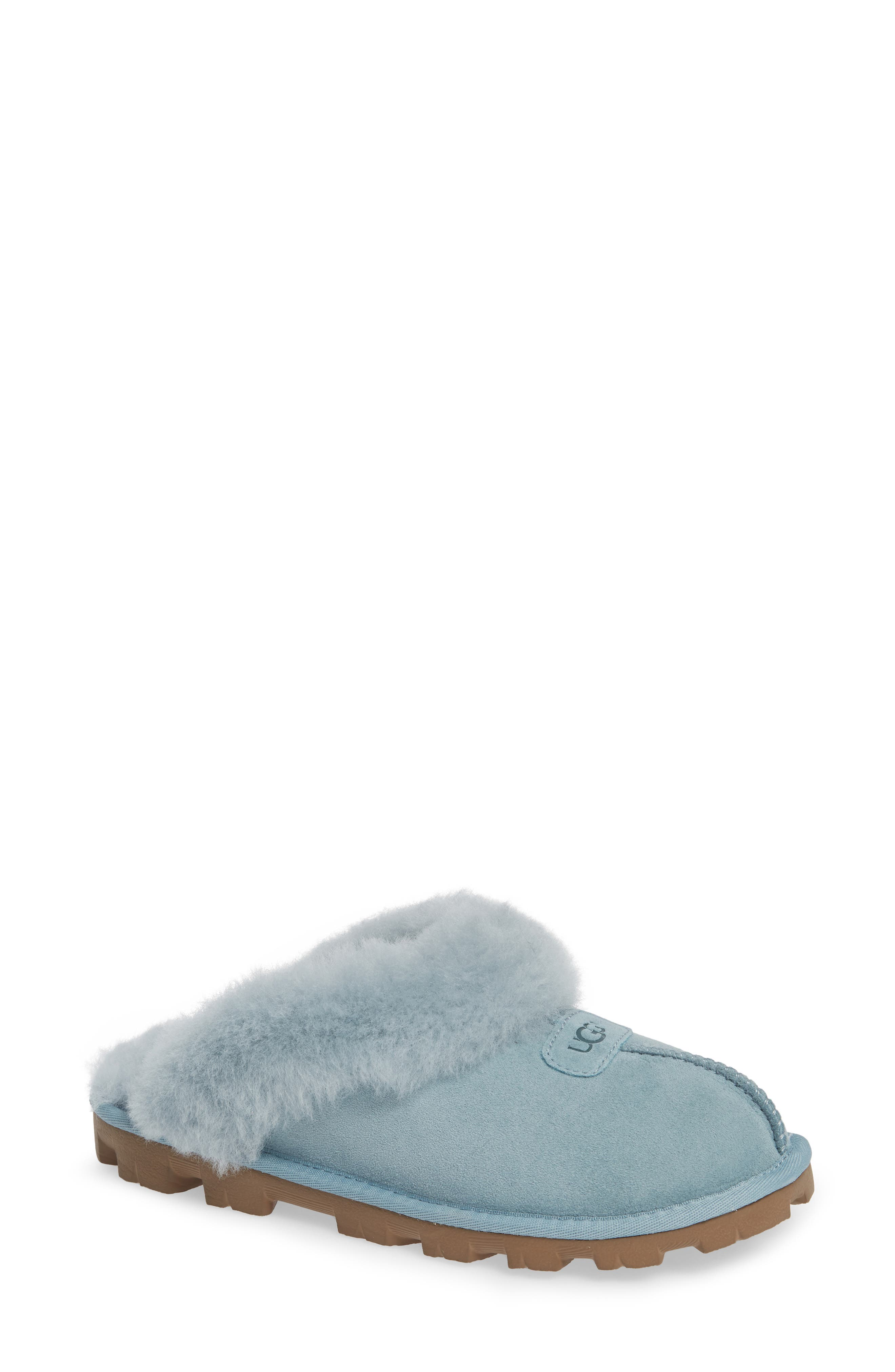 Genuine Shearling Slipper,                             Main thumbnail 1, color,                             SUCCULENT