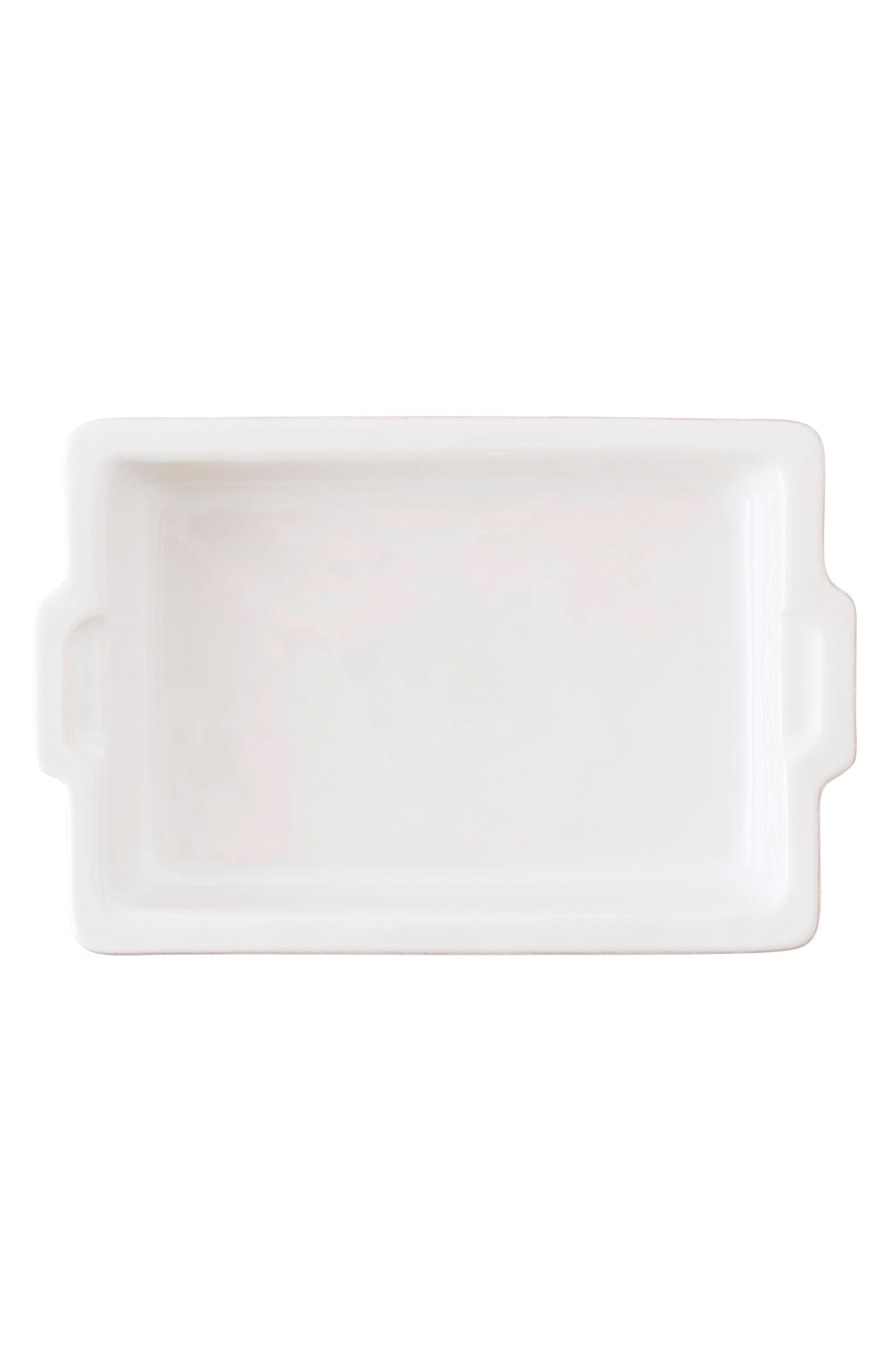 Puro Large Ceramic Baking Dish,                             Alternate thumbnail 2, color,                             WHITEWASH