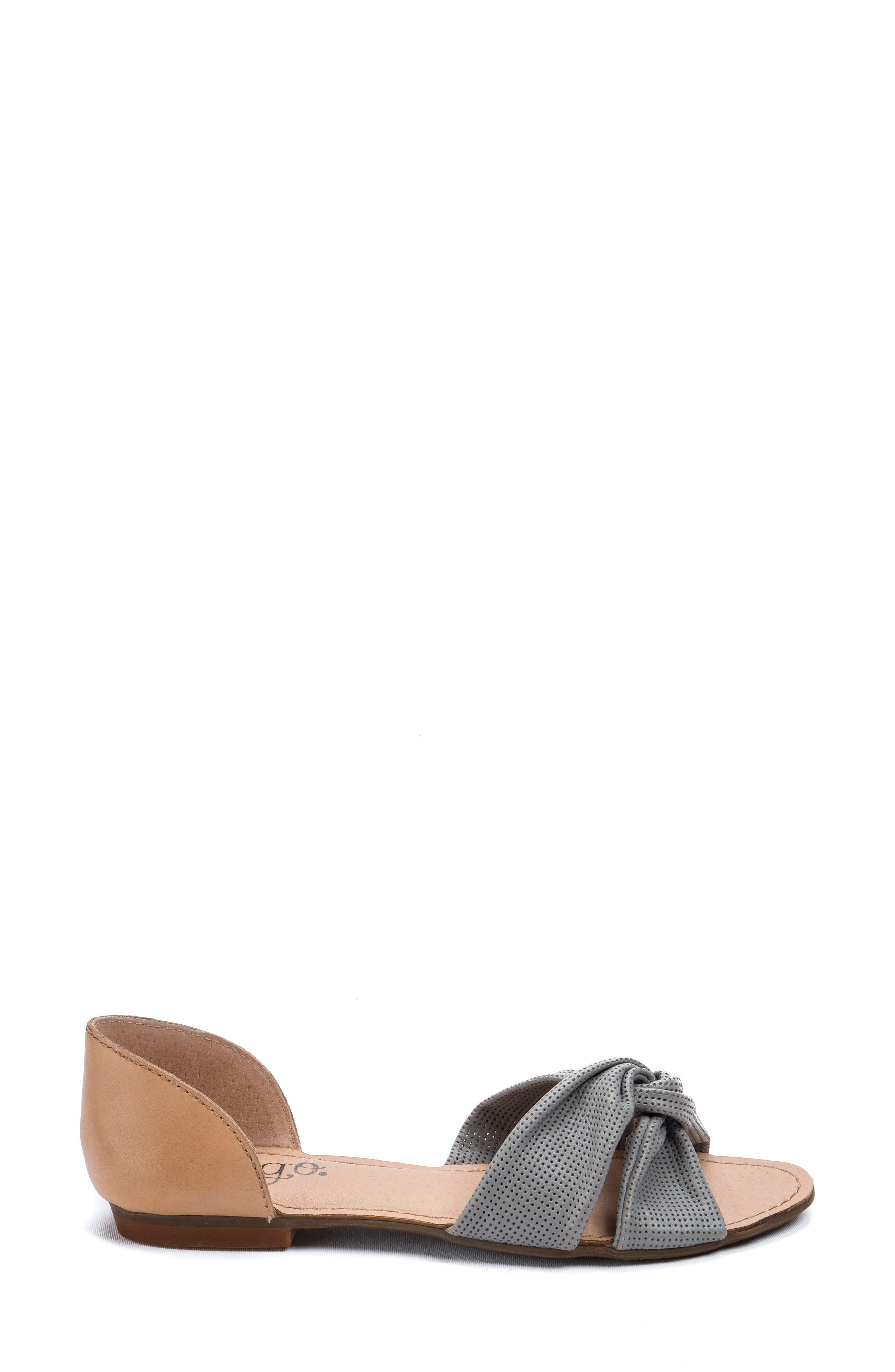 Darcy Perforated Flat Sandal,                             Alternate thumbnail 3, color,                             020