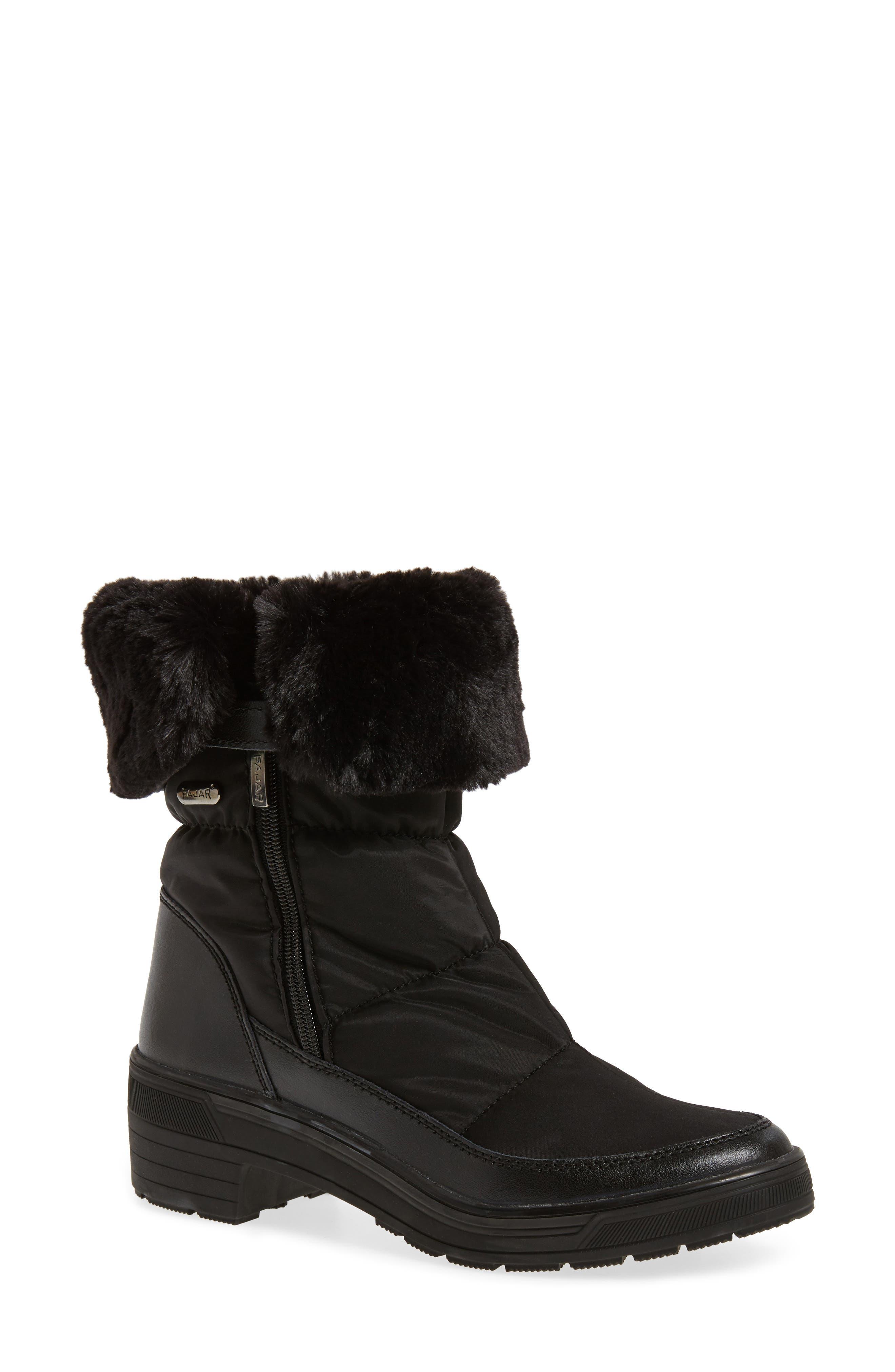Ventura Weatherproof Faux Fur Lined Boot,                         Main,                         color, 001