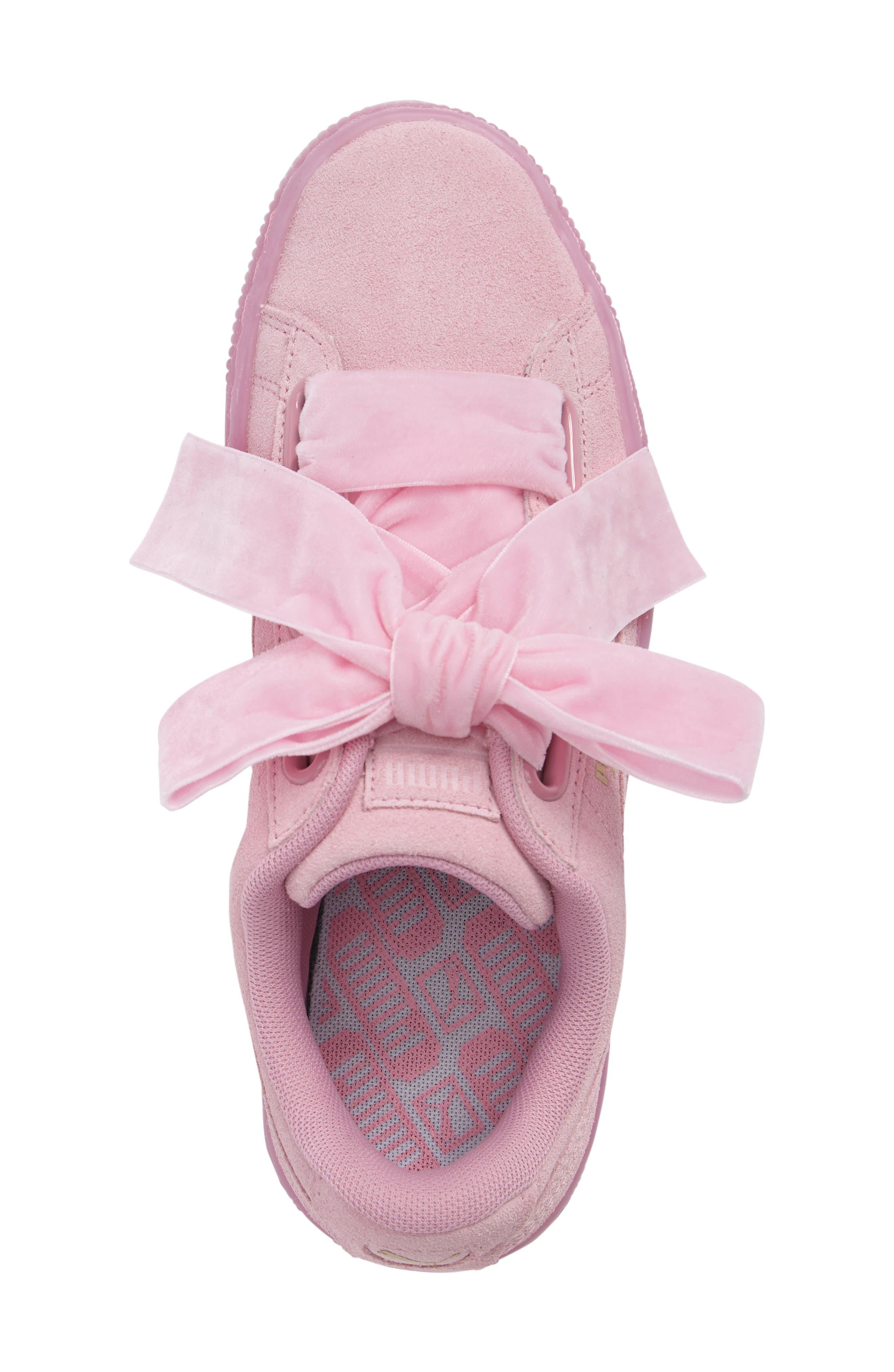 Suede - Heart Sneaker,                             Alternate thumbnail 40, color,