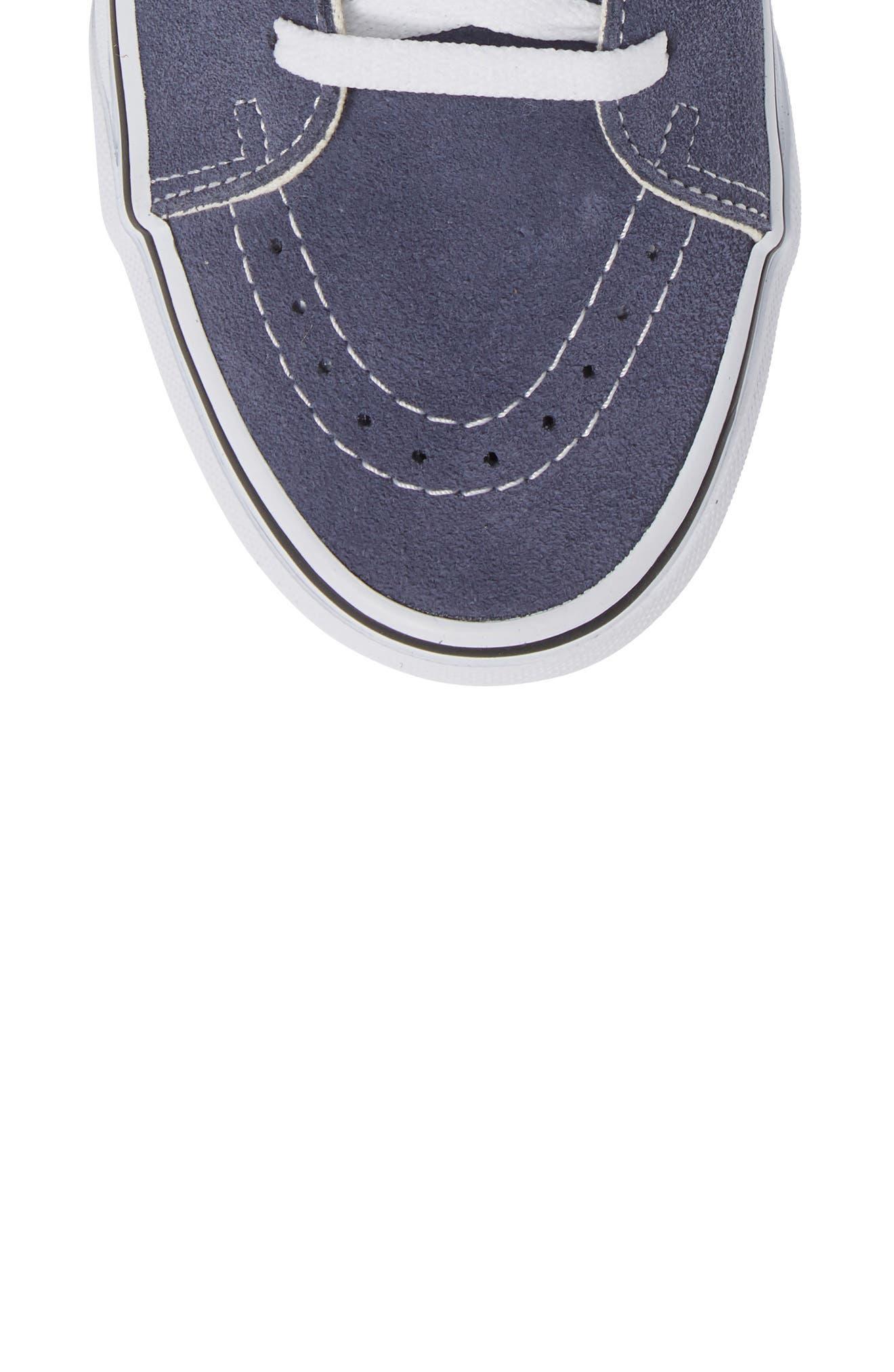 'Sk8-Hi' Sneaker,                             Alternate thumbnail 5, color,                             GREY/ TRUE WHITE