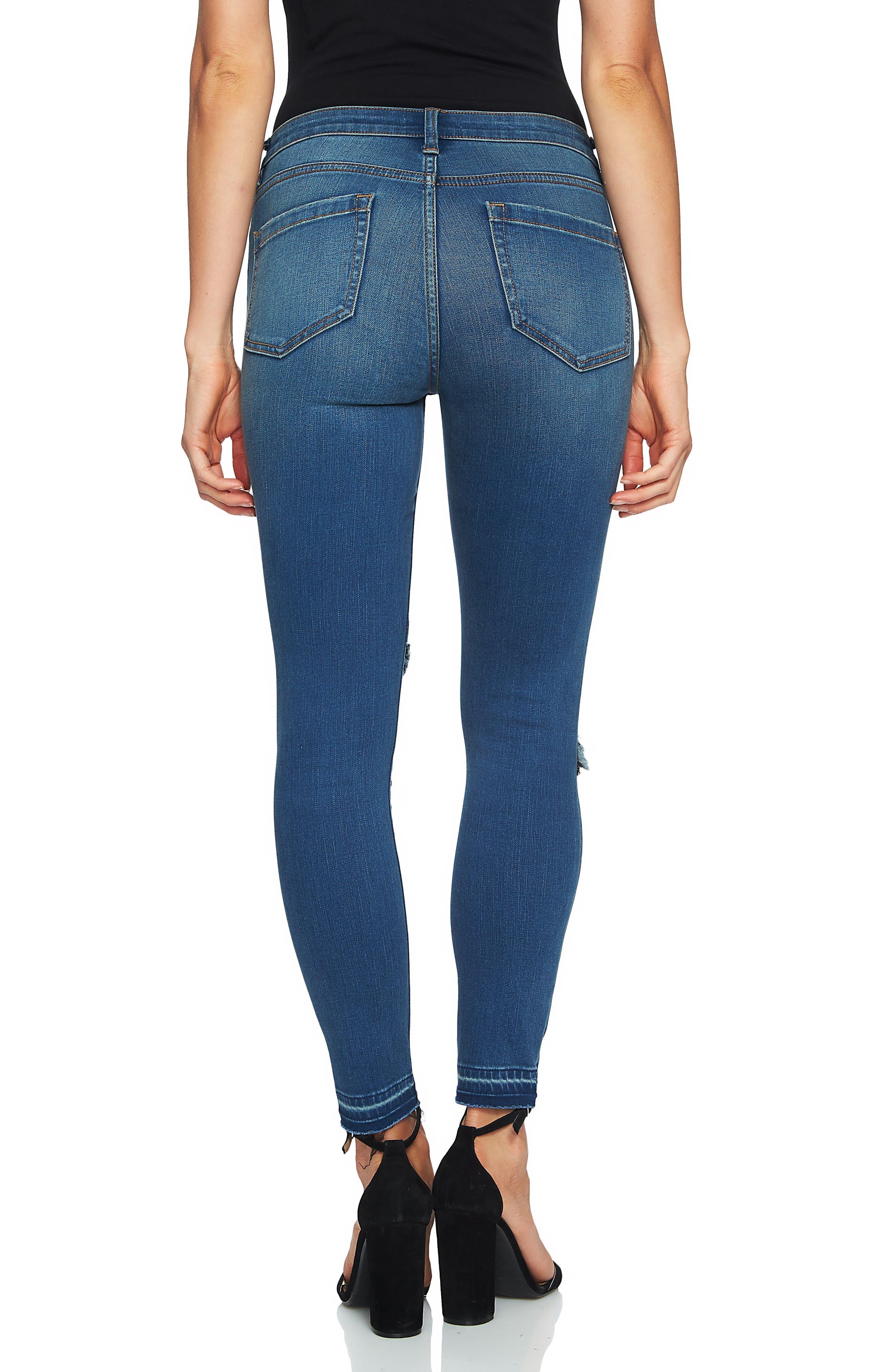 Ankle Skinny Jeans,                             Alternate thumbnail 2, color,