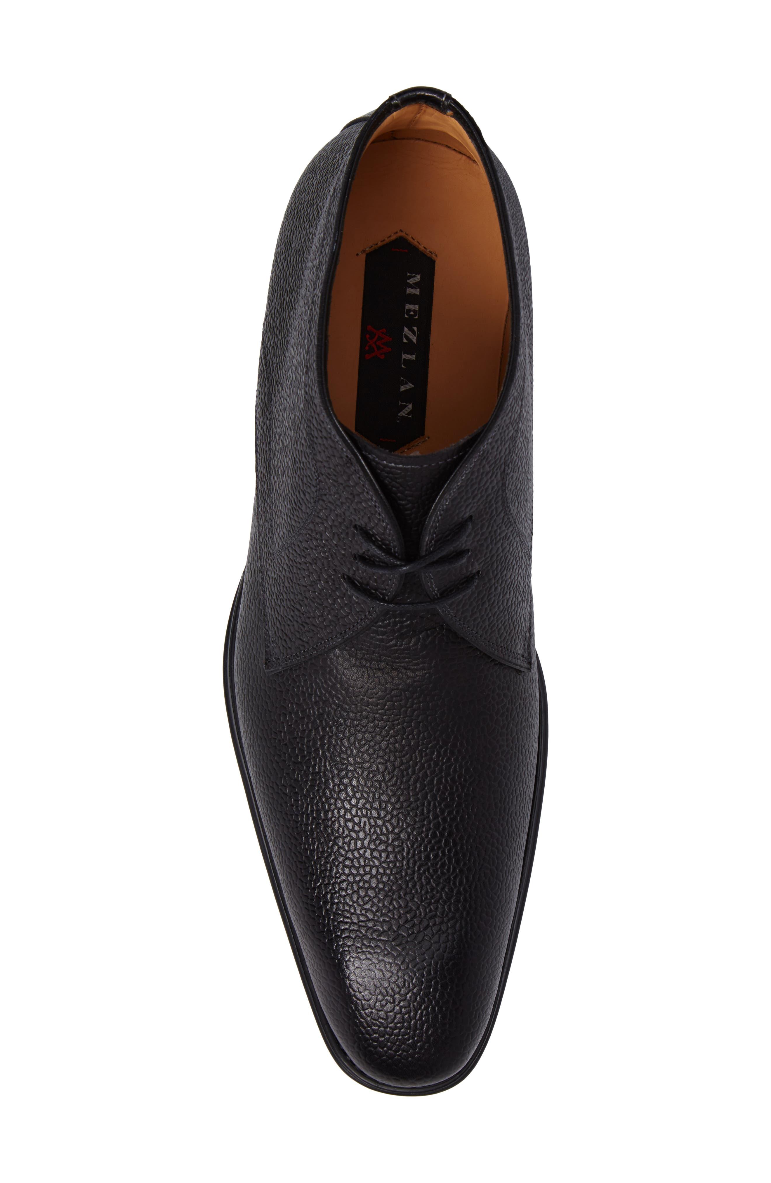 Cabra Plain Toe Derby,                             Alternate thumbnail 5, color,                             BLACK LEATHER