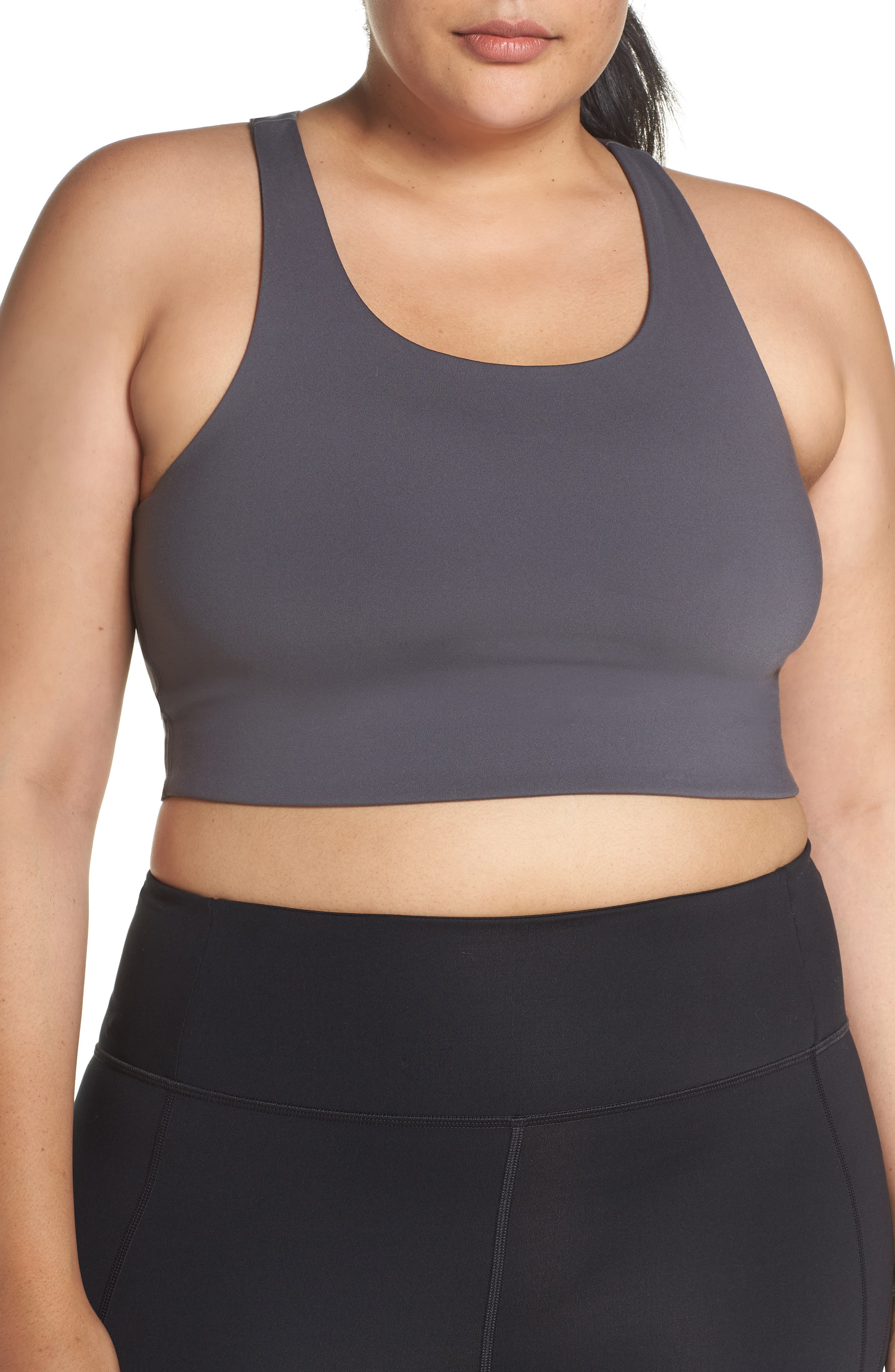 Paloma Sports Bra,                             Alternate thumbnail 2, color,                             SMOKE