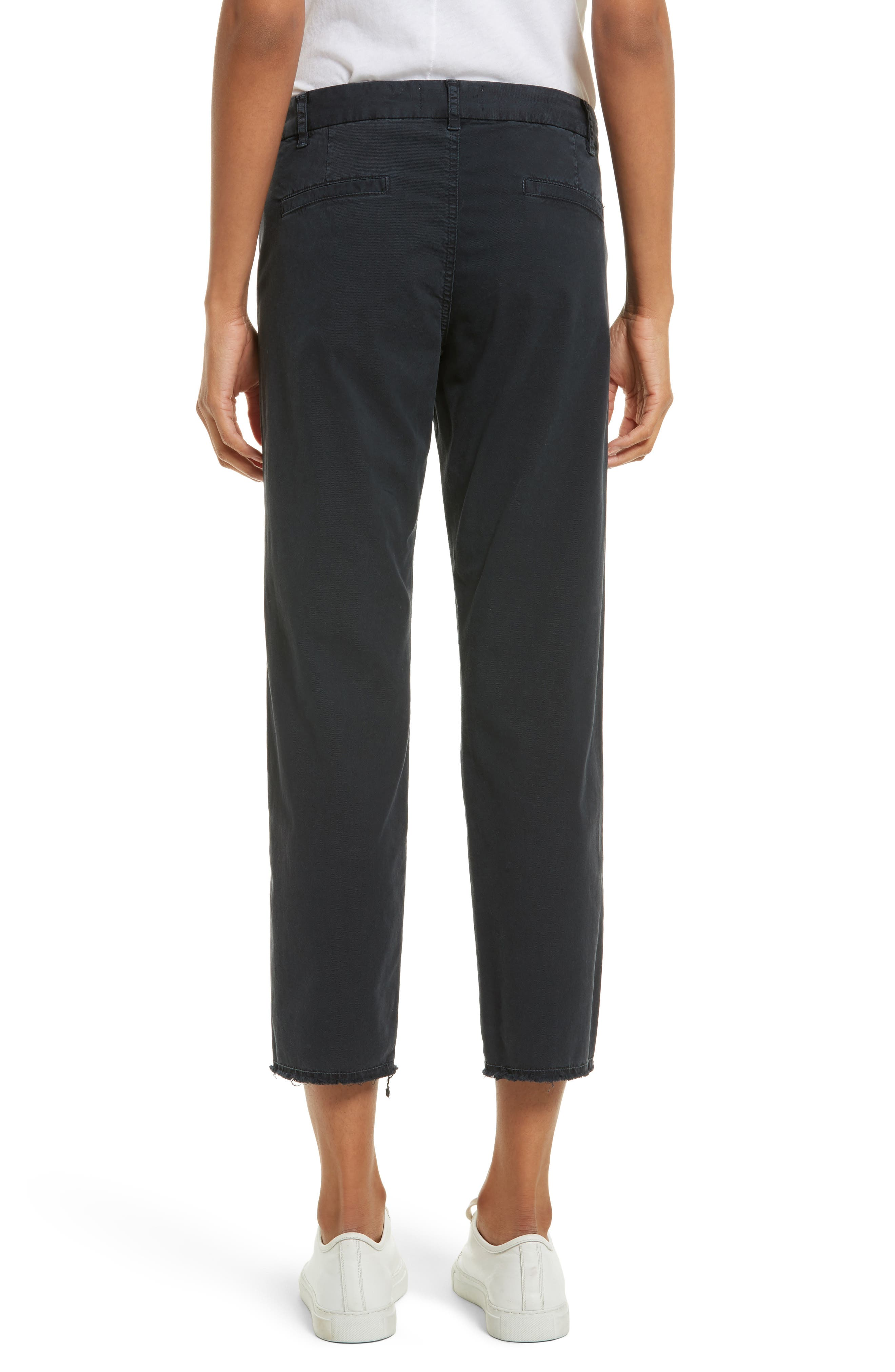 East Hampton Stretch Cotton Twill Crop Pants,                             Alternate thumbnail 2, color,                             DARK NAVY