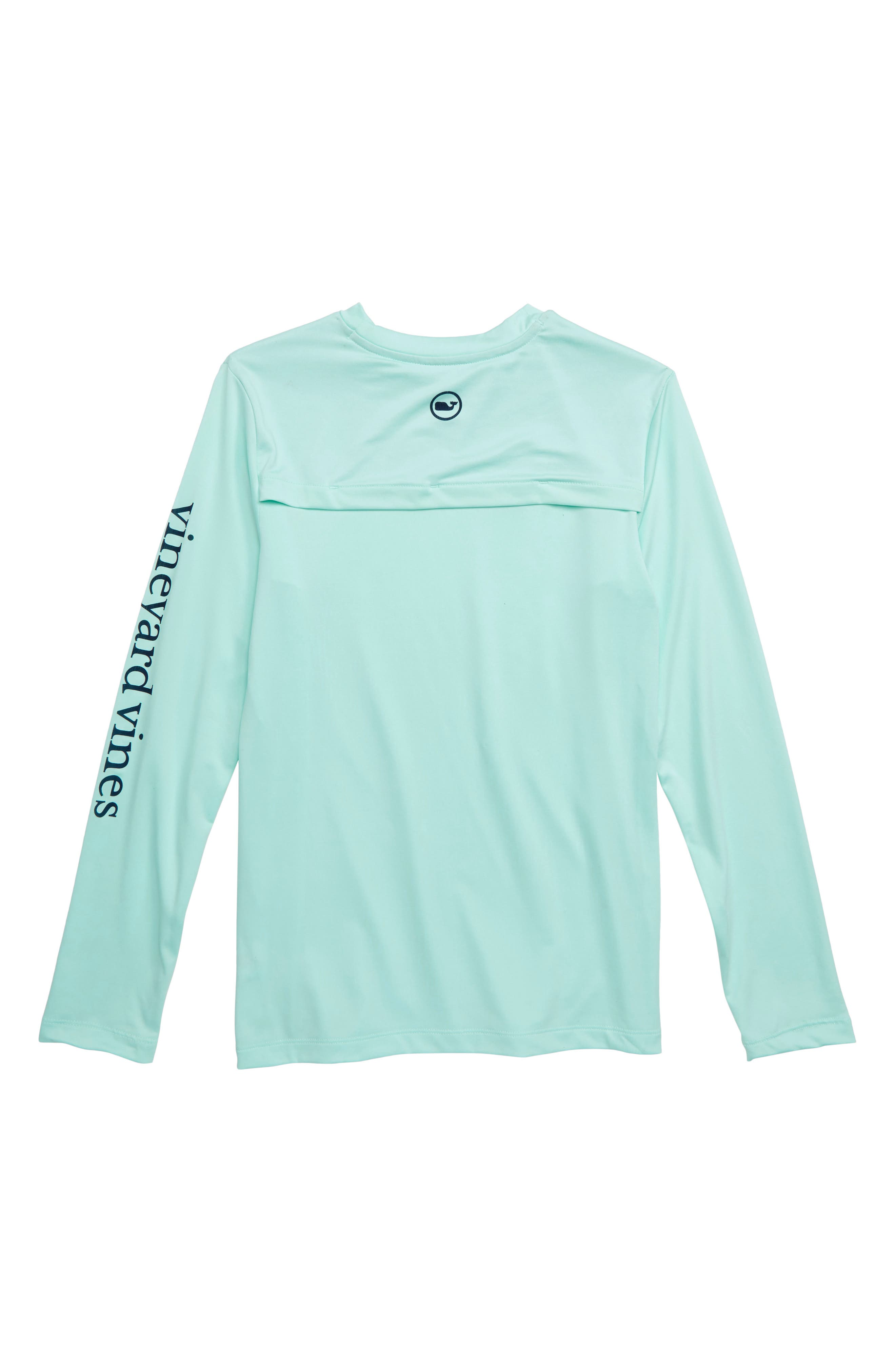 Long Sleeve Vented Boating T-Shirt,                             Alternate thumbnail 2, color,                             SEA SPLASH