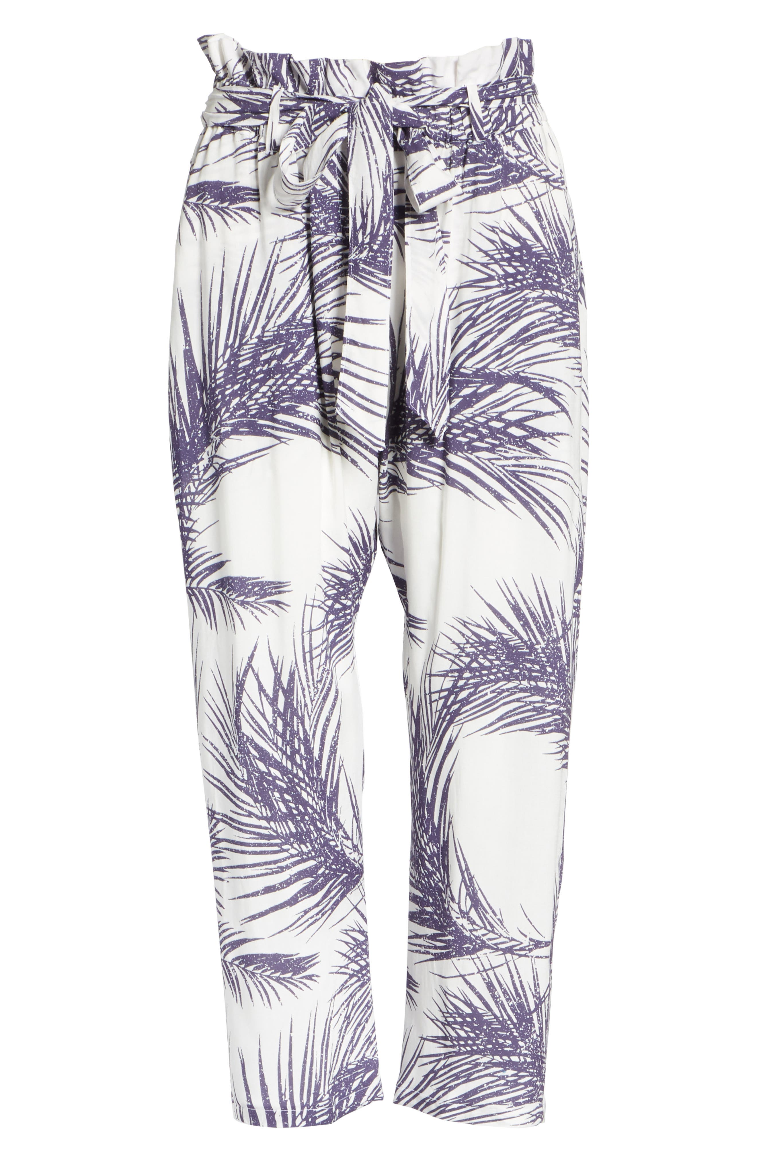 Surf Print Paperbag Pants,                             Alternate thumbnail 6, color,