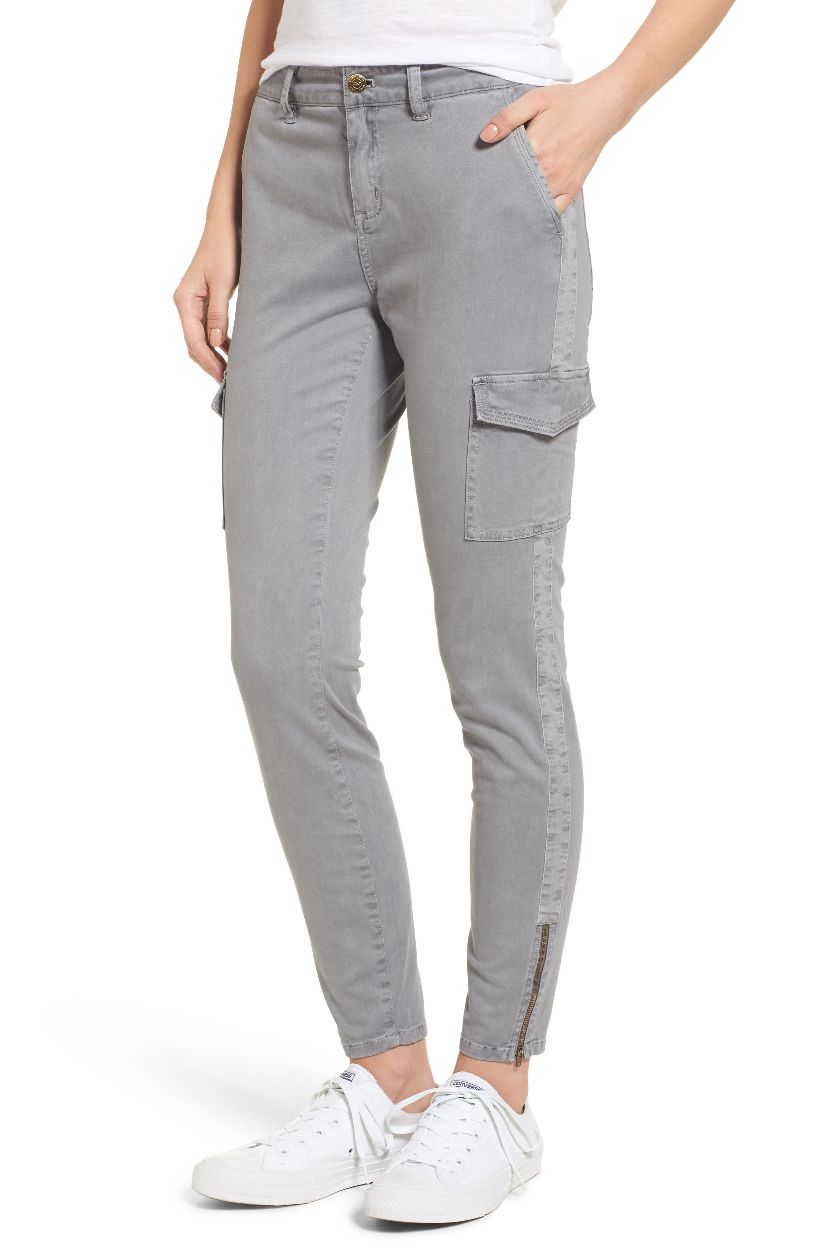 Garment Dyed Utility Skinny Pants,                             Main thumbnail 1, color,                             057
