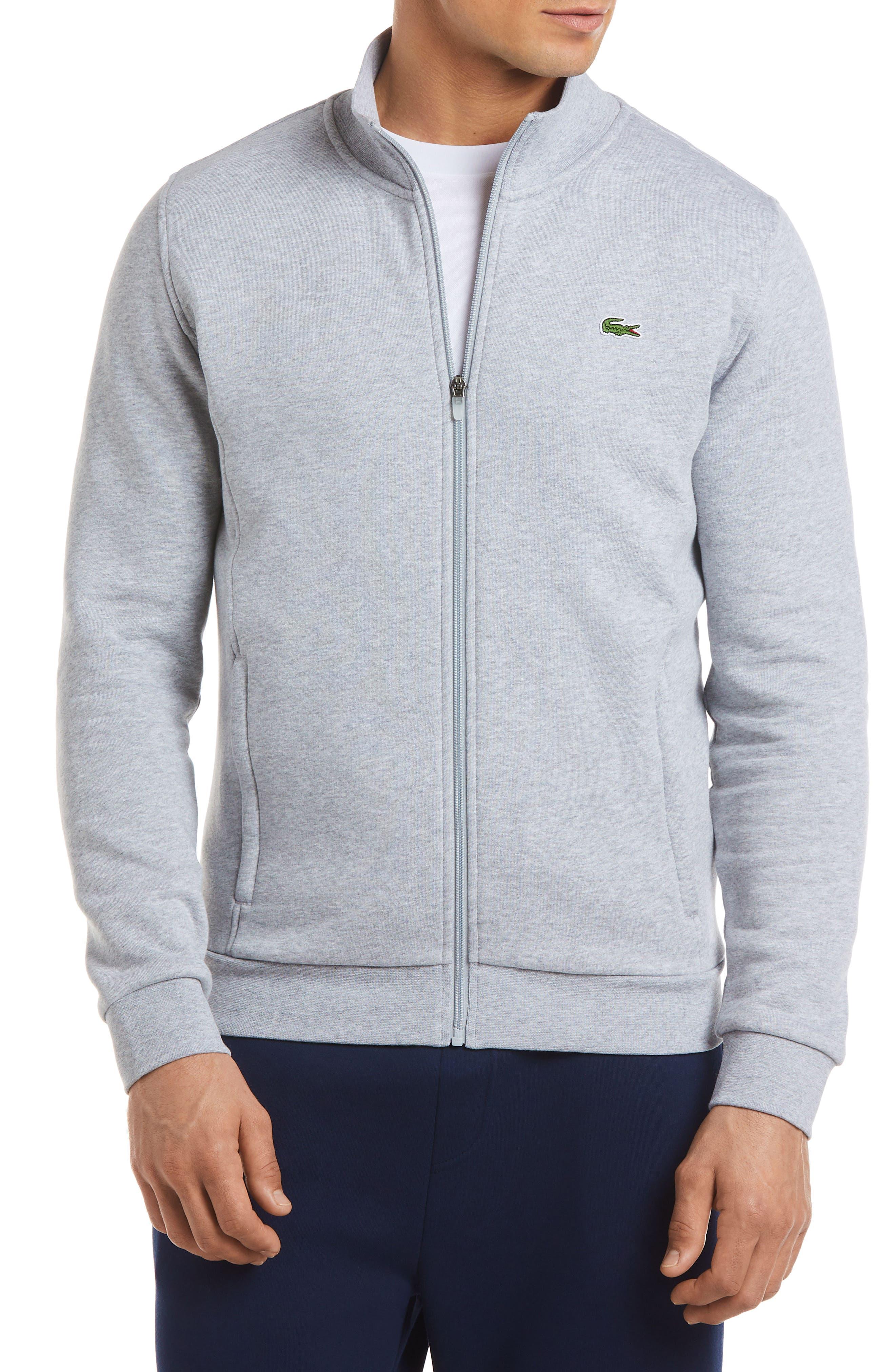 Lacoste Fleece Zip Jacket, Metallic
