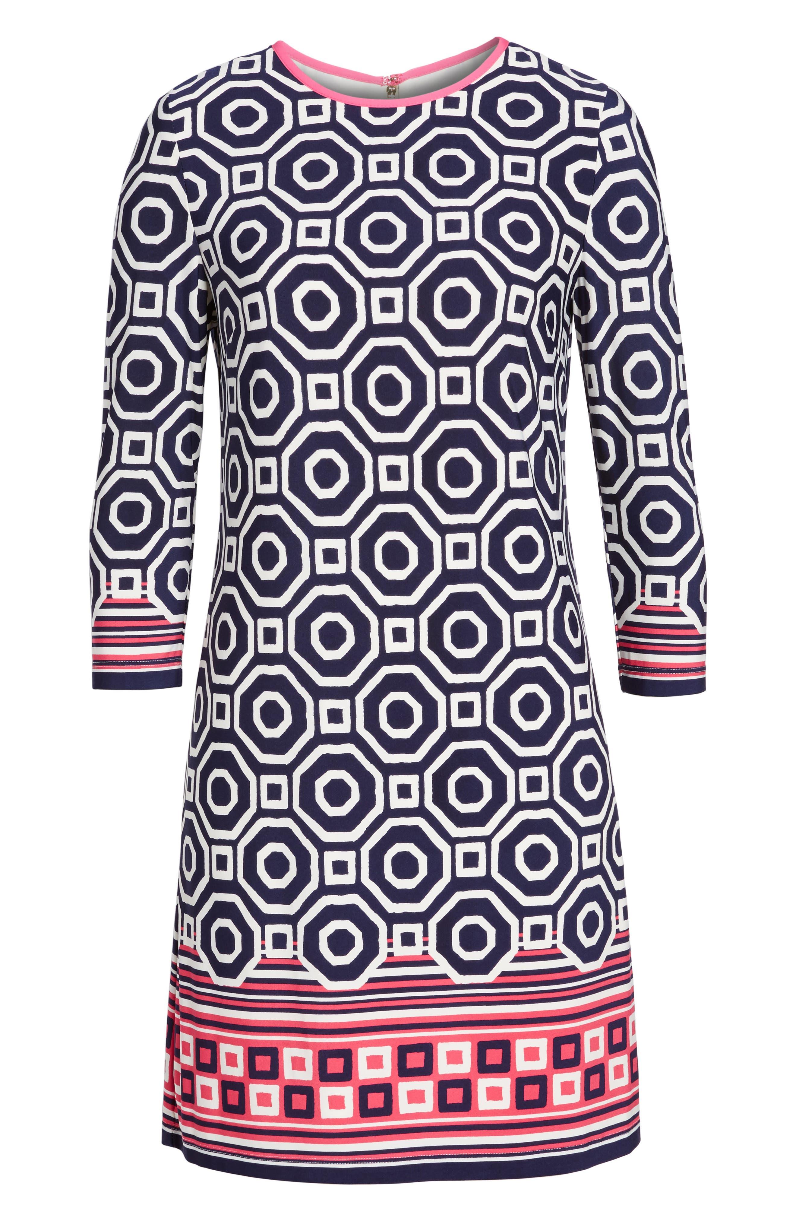 Print Jersey Shift Dress,                             Alternate thumbnail 2, color,                             410