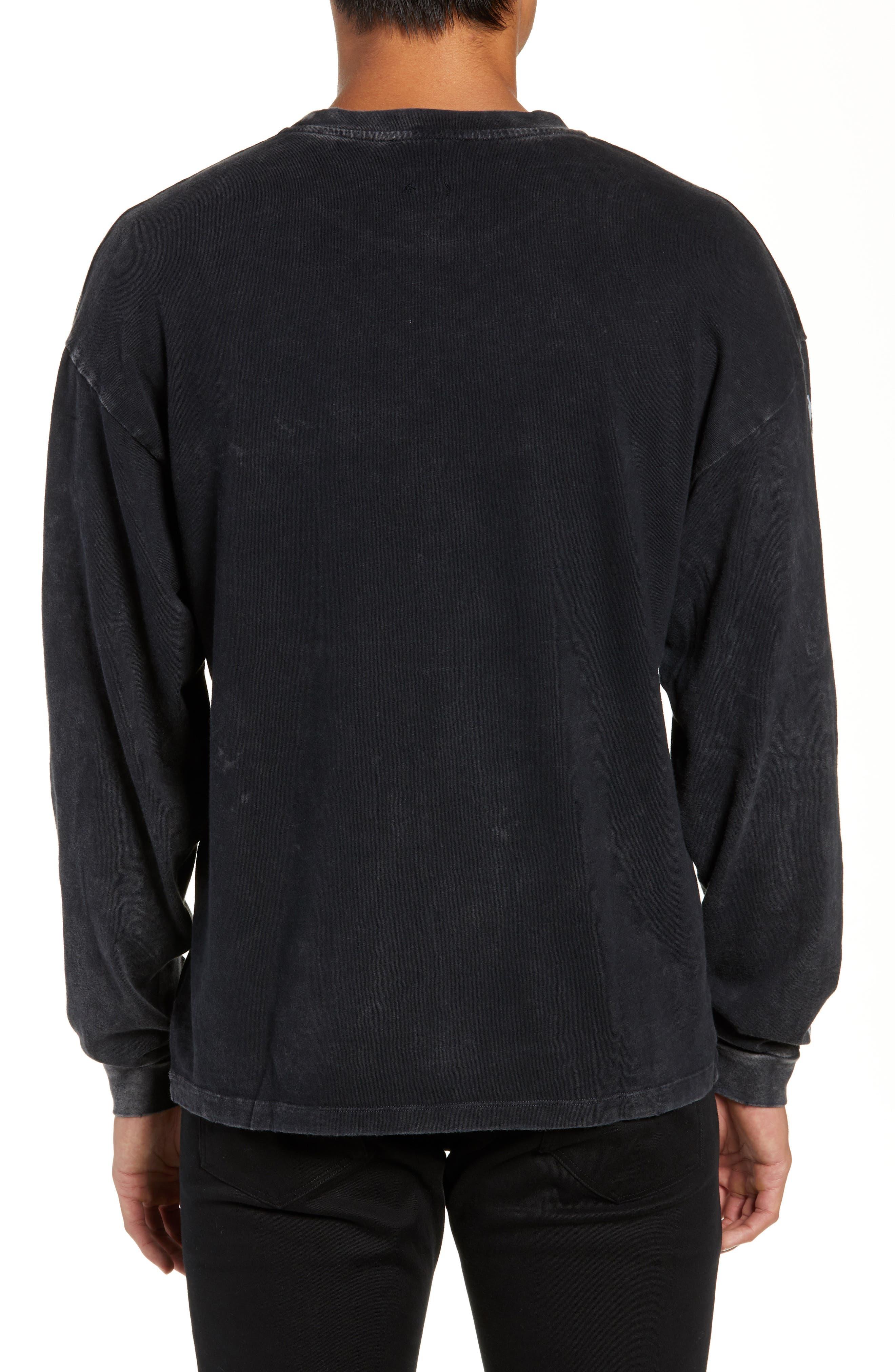 Vampire Graphic Long Sleeve T-Shirt,                             Alternate thumbnail 2, color,                             BLACK