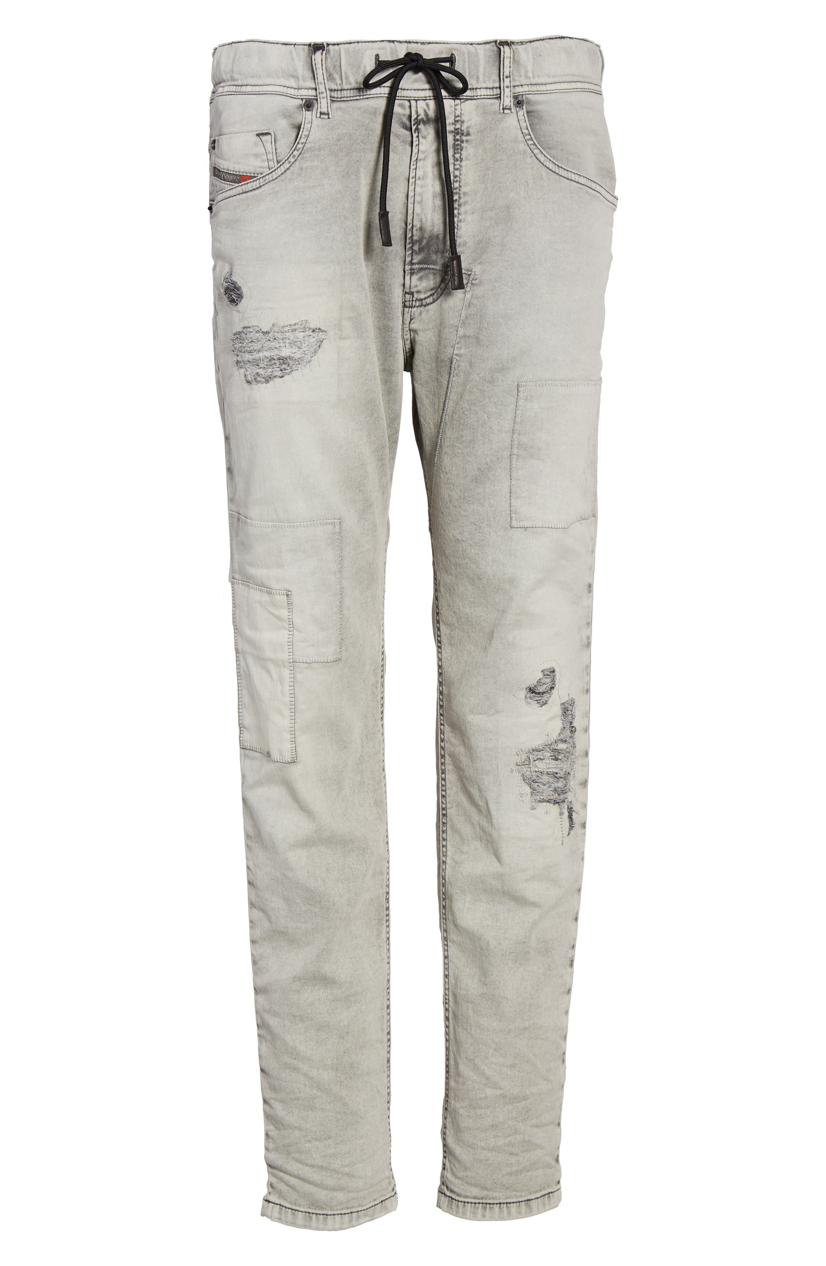 Narrot Slouchy Skinny Fit Jeans,                             Alternate thumbnail 6, color,                             008