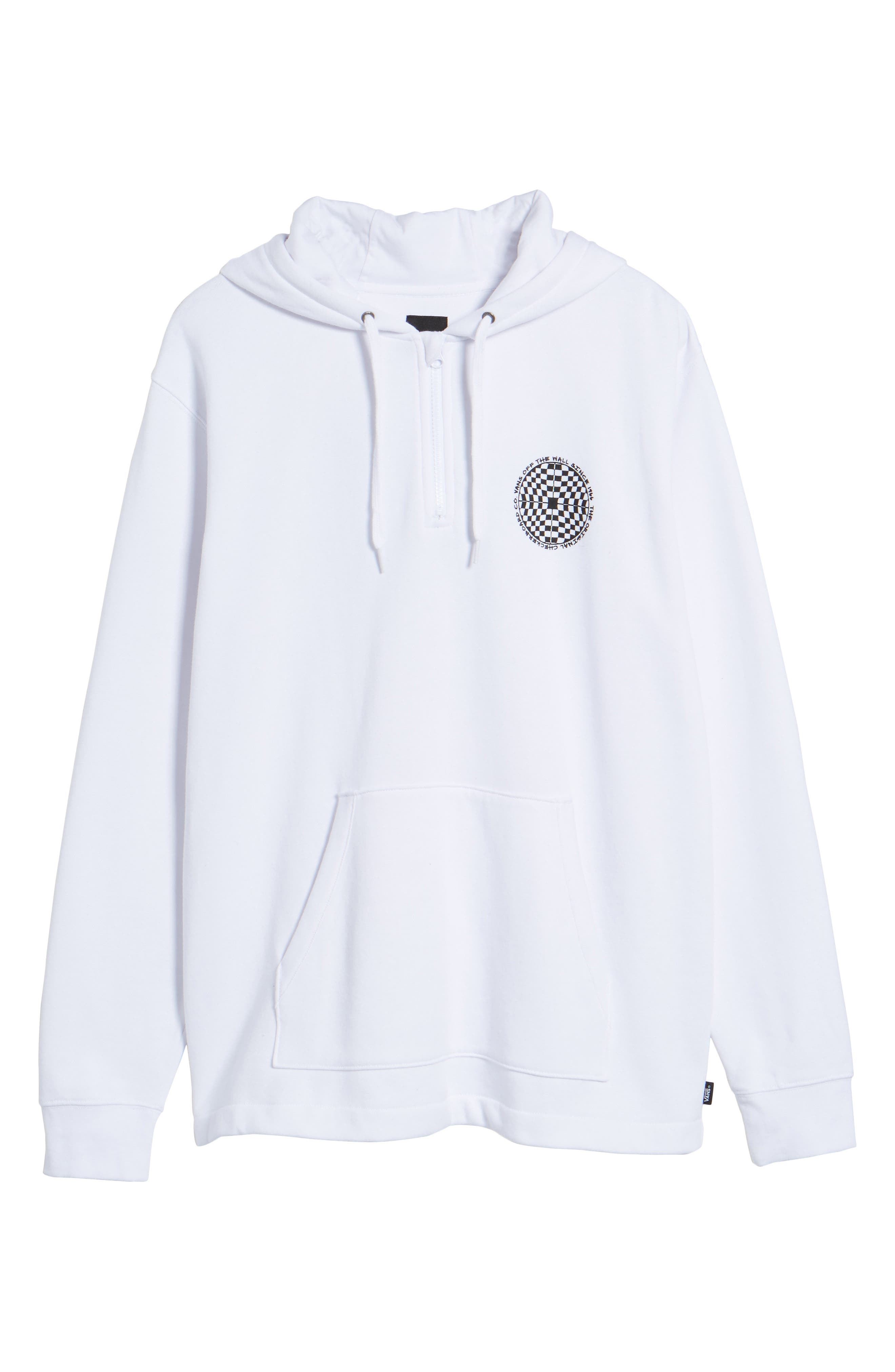 Checkered Quarter Zip Hoodie,                             Alternate thumbnail 6, color,