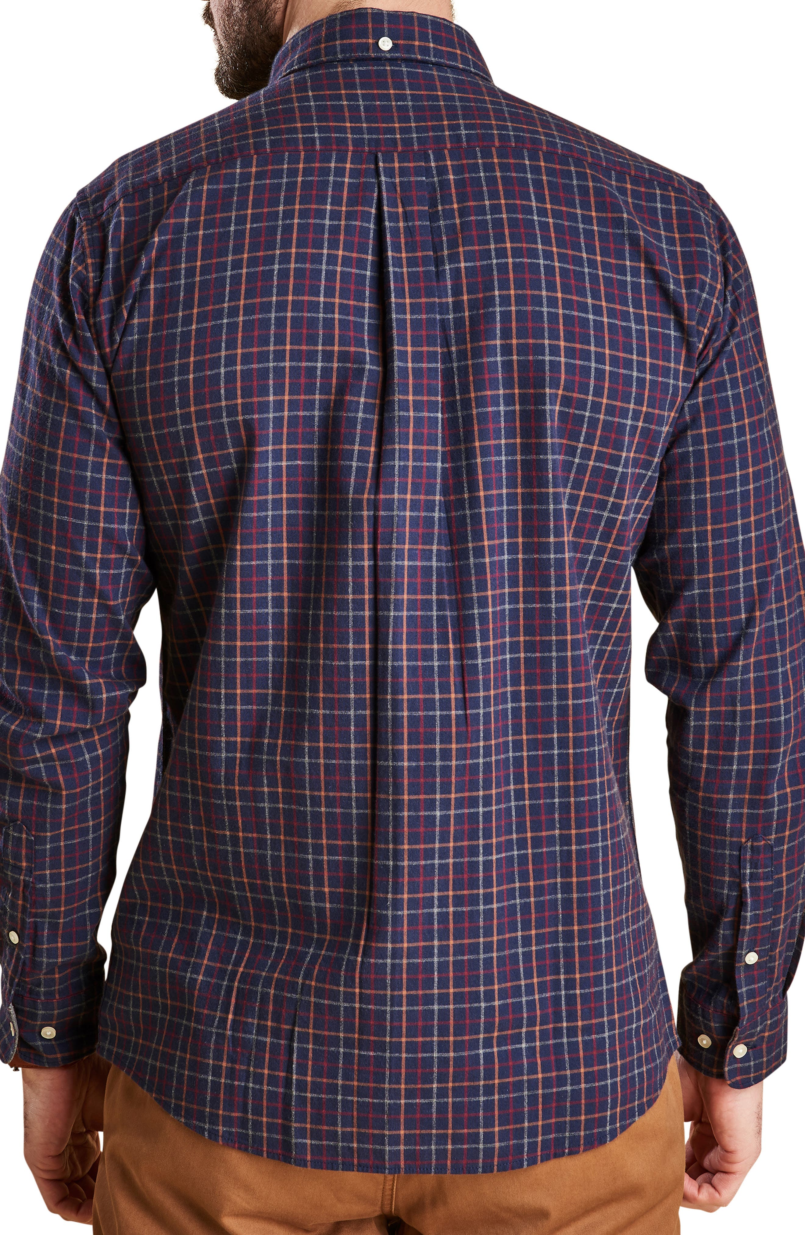 Endsleigh Tattersall Cotton Flannel Shirt,                             Alternate thumbnail 3, color,                             410