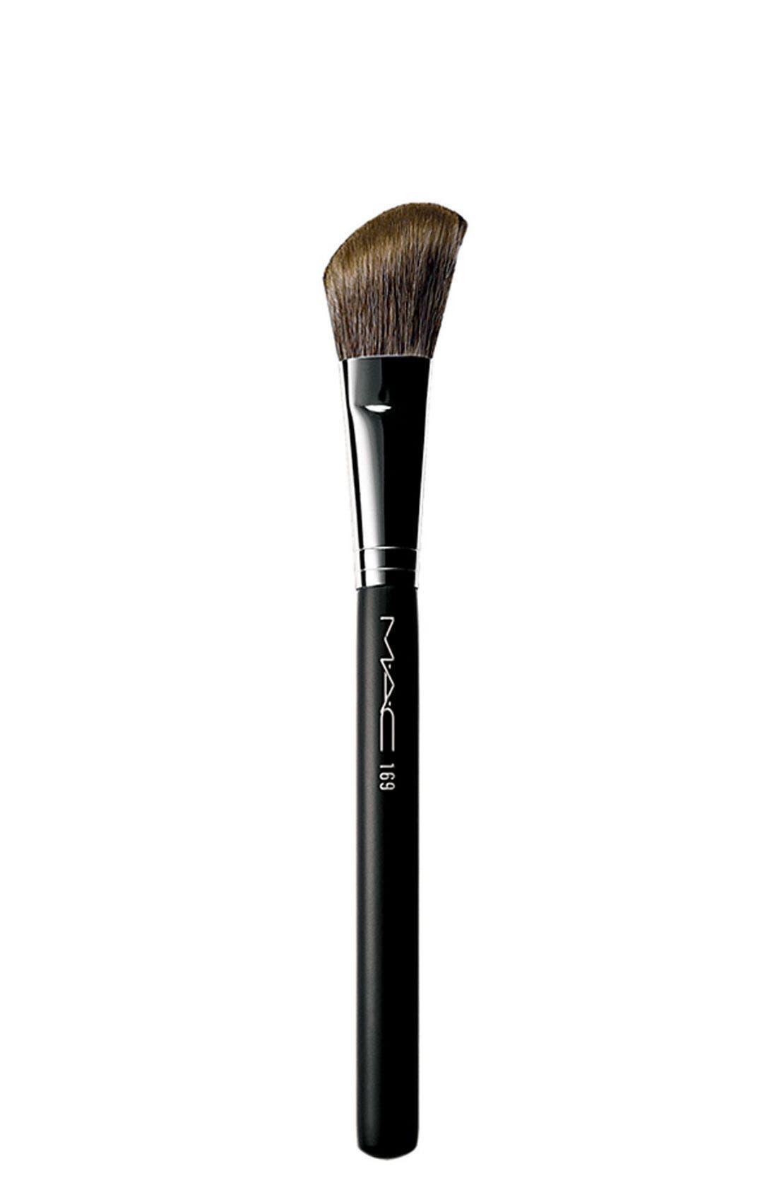 M·A·C 169 Angled Blush Brush,                             Main thumbnail 1, color,                             000