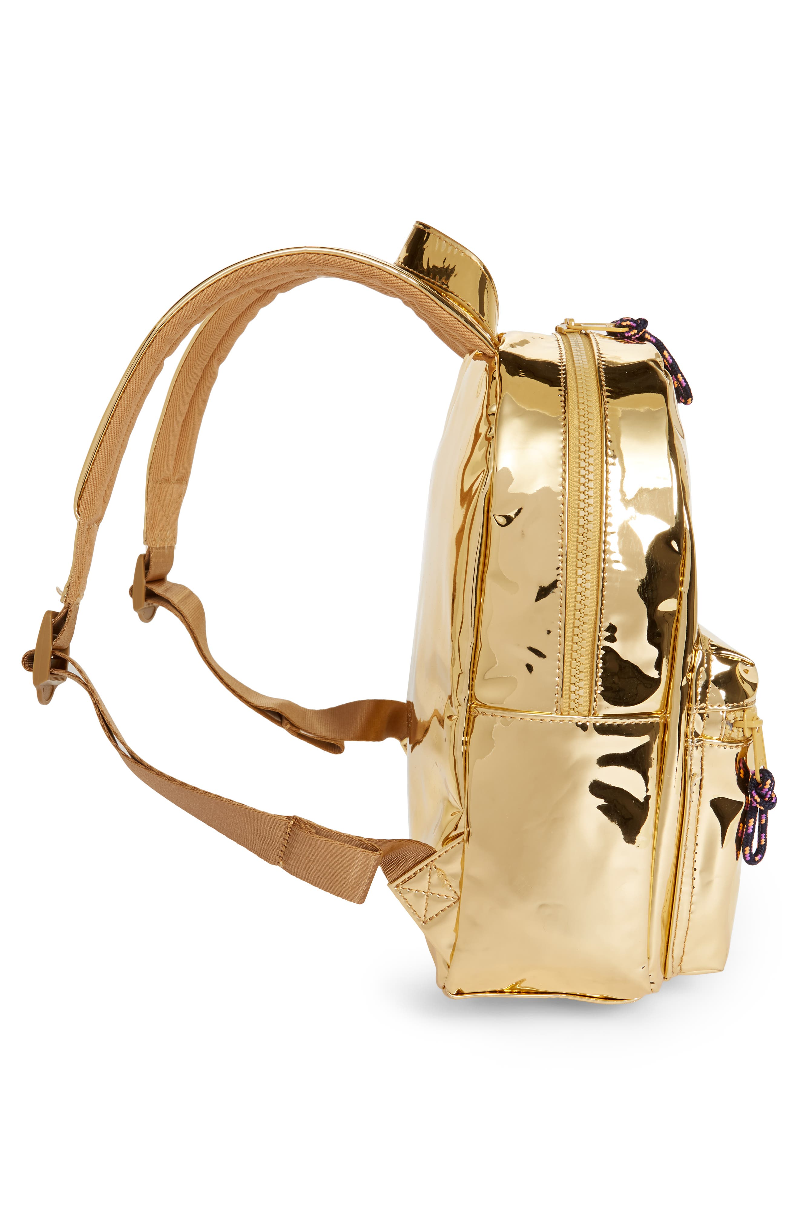 Metallic Mini Backpack,                             Alternate thumbnail 4, color,                             710