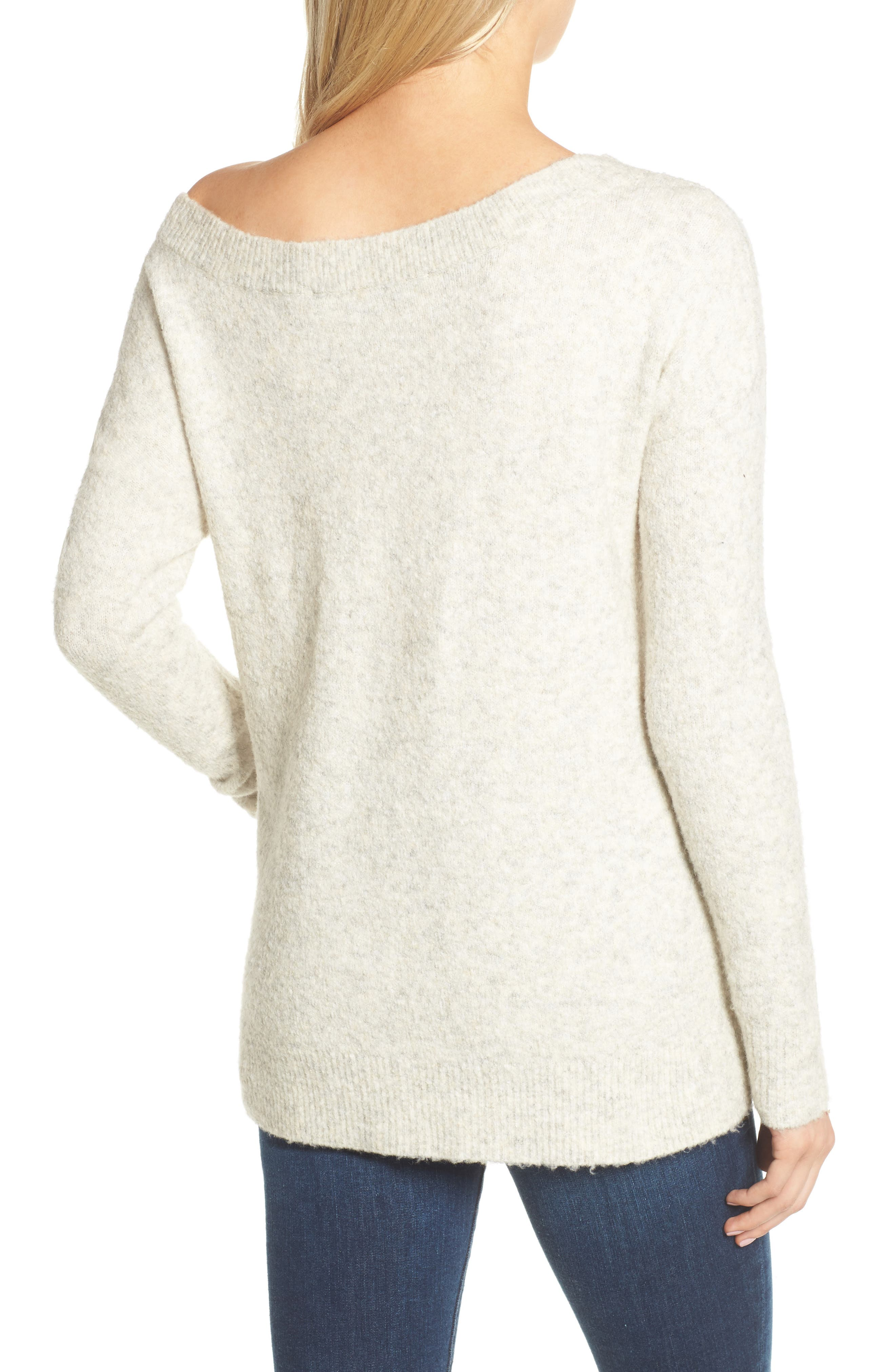 Urban Flossy One-Shoulder Sweater,                             Alternate thumbnail 4, color,