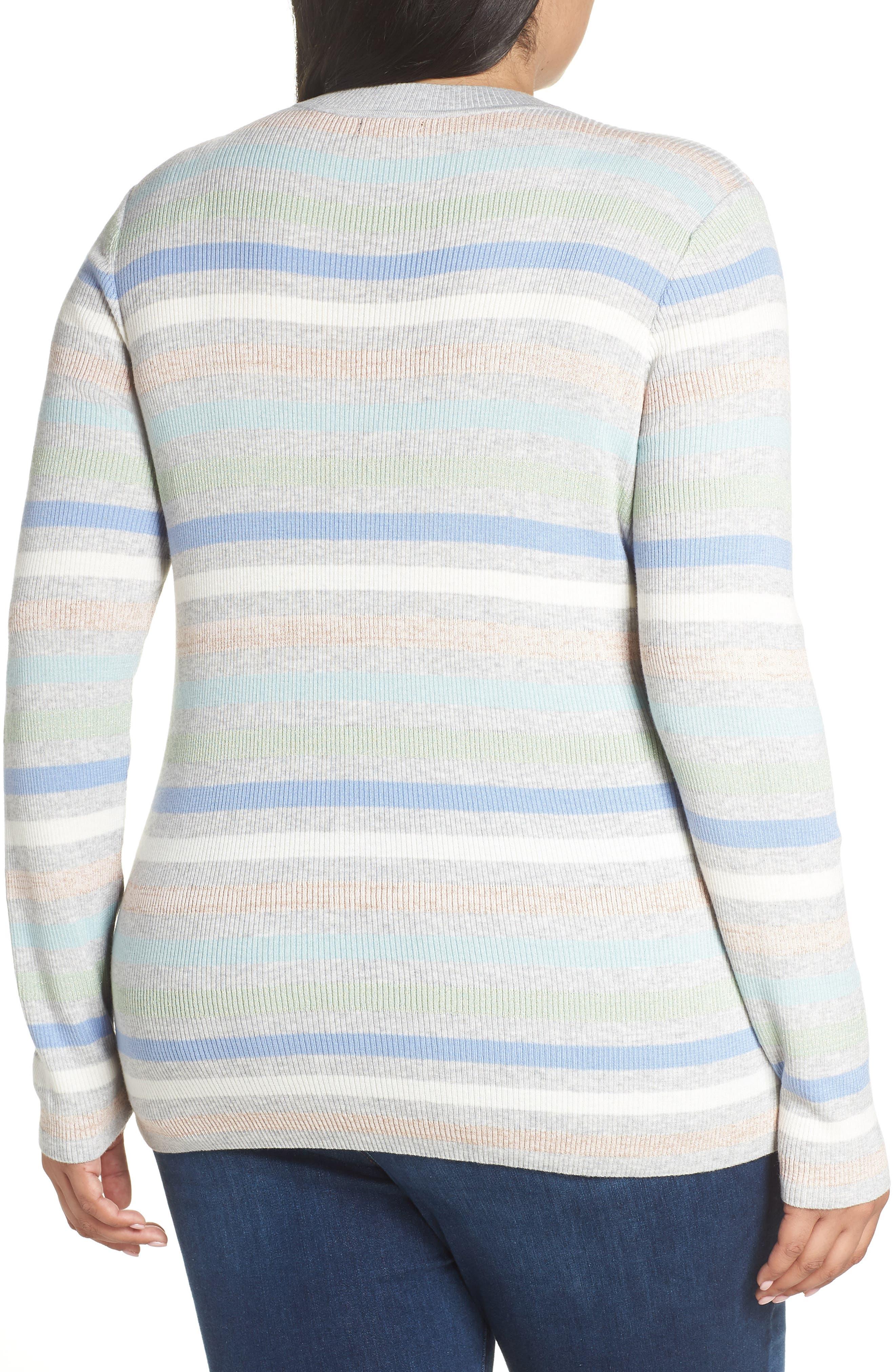 x Atlantic-Pacific Shimmer Stripe Sweater,                             Alternate thumbnail 2, color,                             GREY MULTI STRIPE