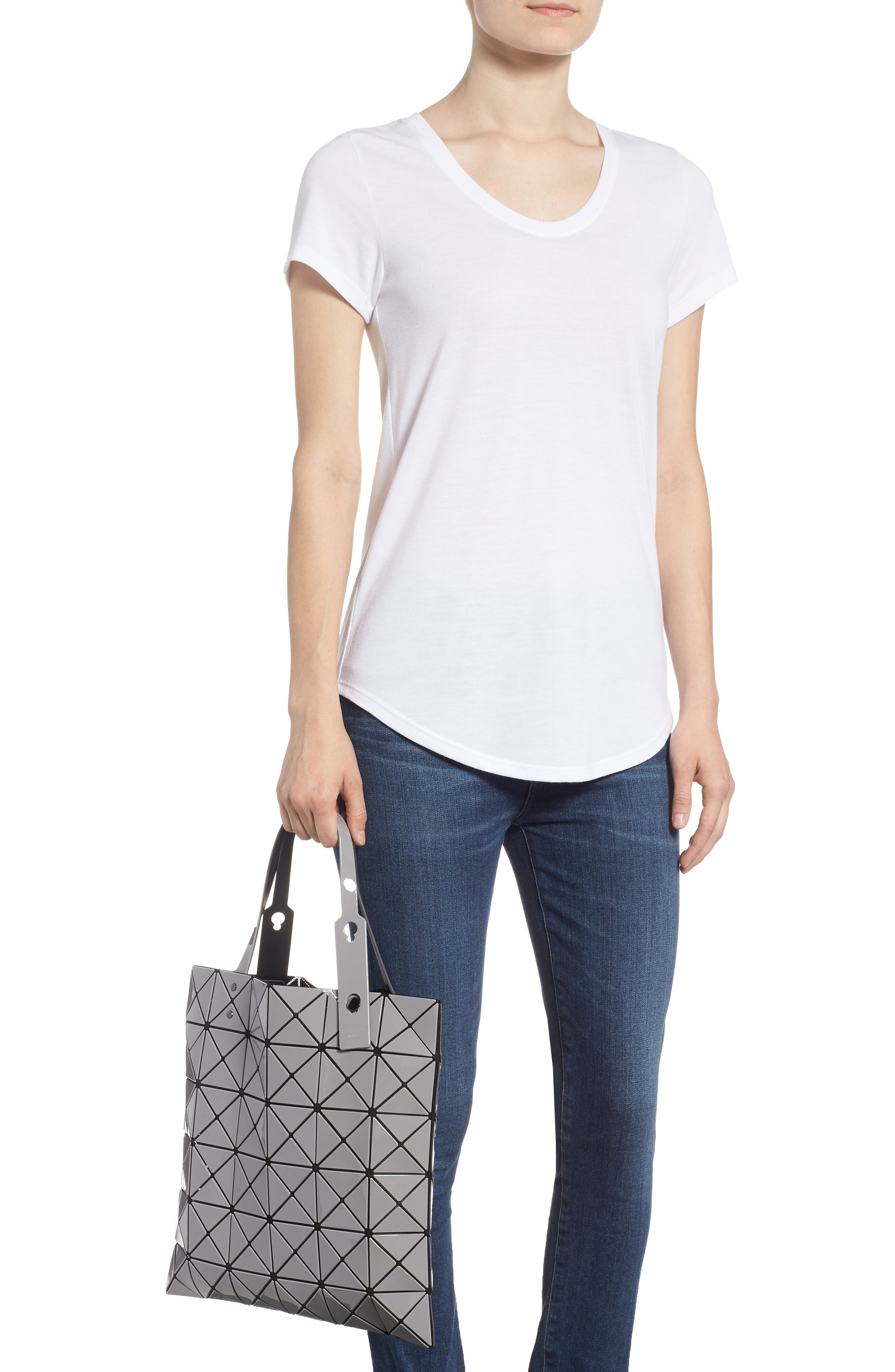 Lucent Two-Tone Tote Bag,                             Alternate thumbnail 2, color,                             LIGHT GRAY/ CHARCOAL