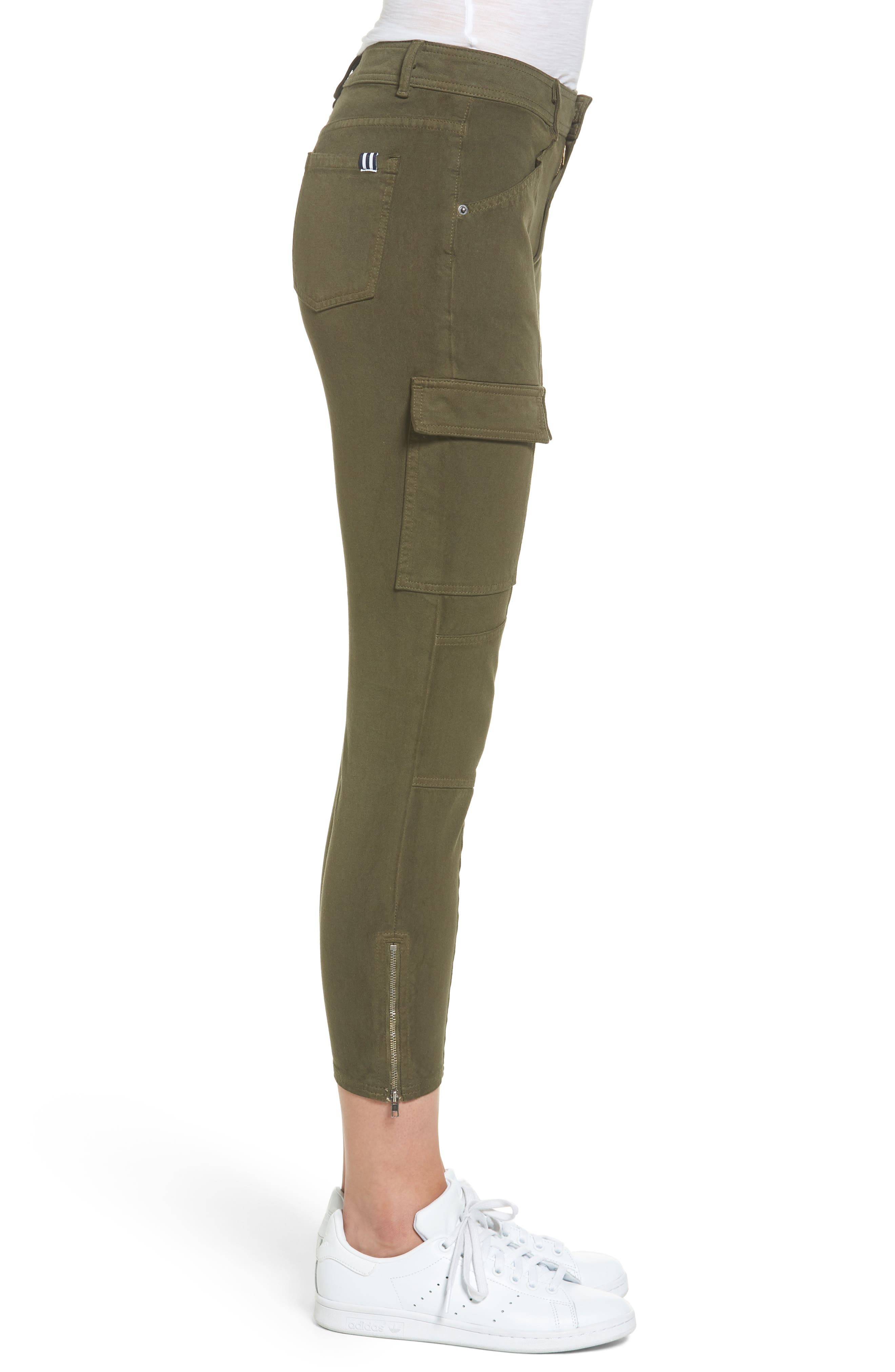 Stretch Twill Cargo Pants,                             Alternate thumbnail 3, color,                             001
