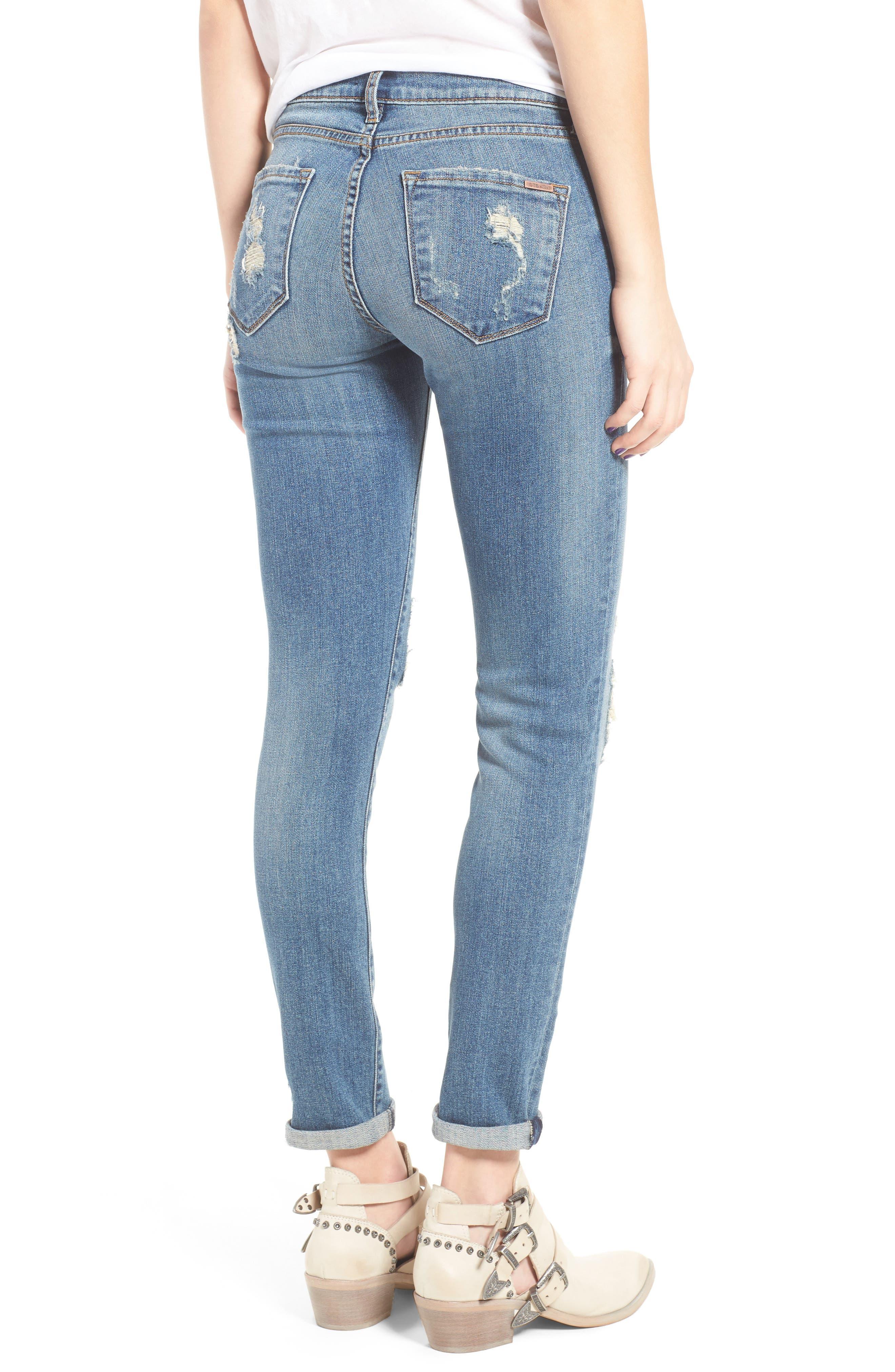 Taylor Ripped Boyfriend Jeans,                             Alternate thumbnail 2, color,                             400