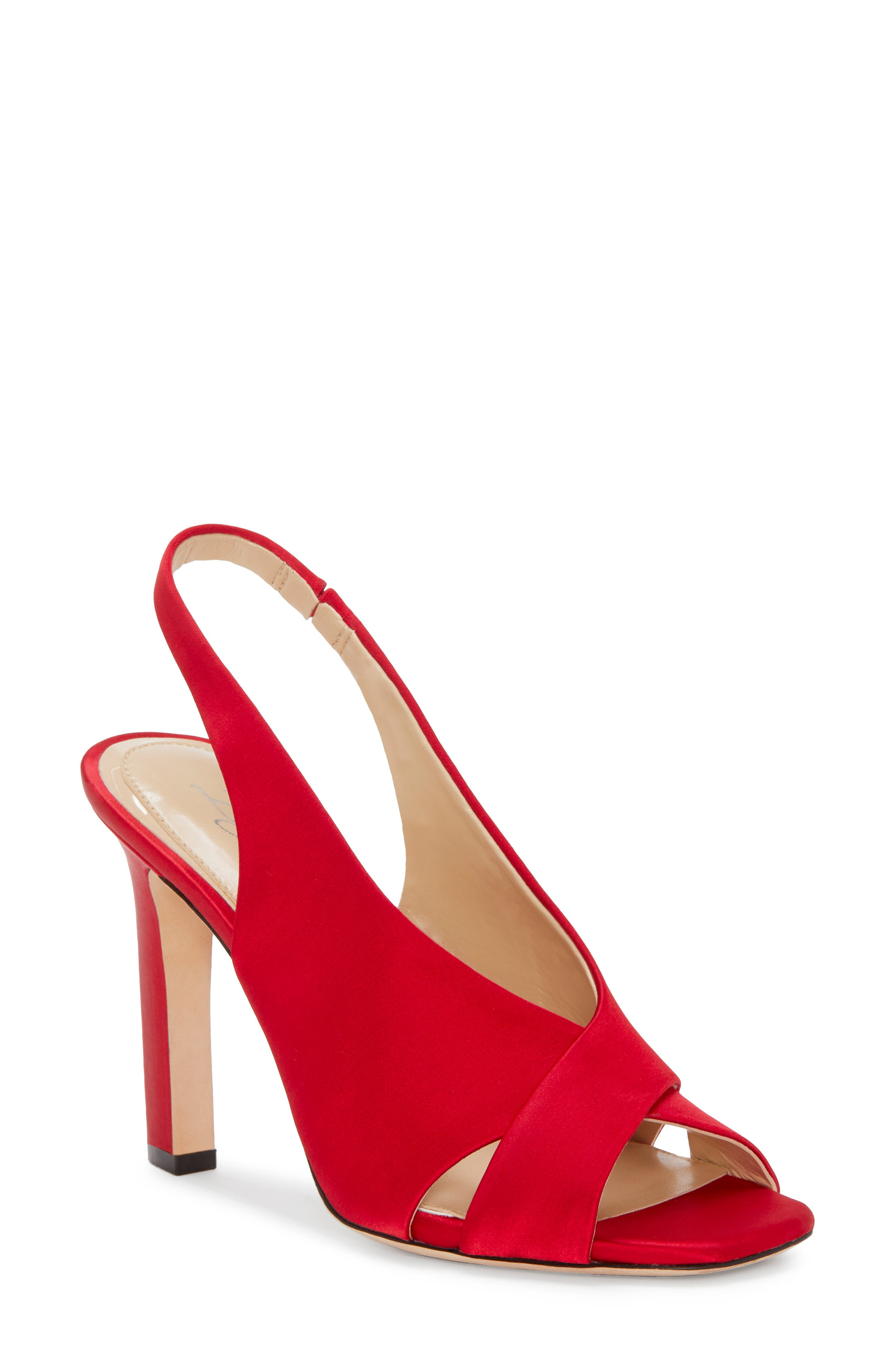 Imagine By Vince Camuto Wrennie Slingback Sandal, Red