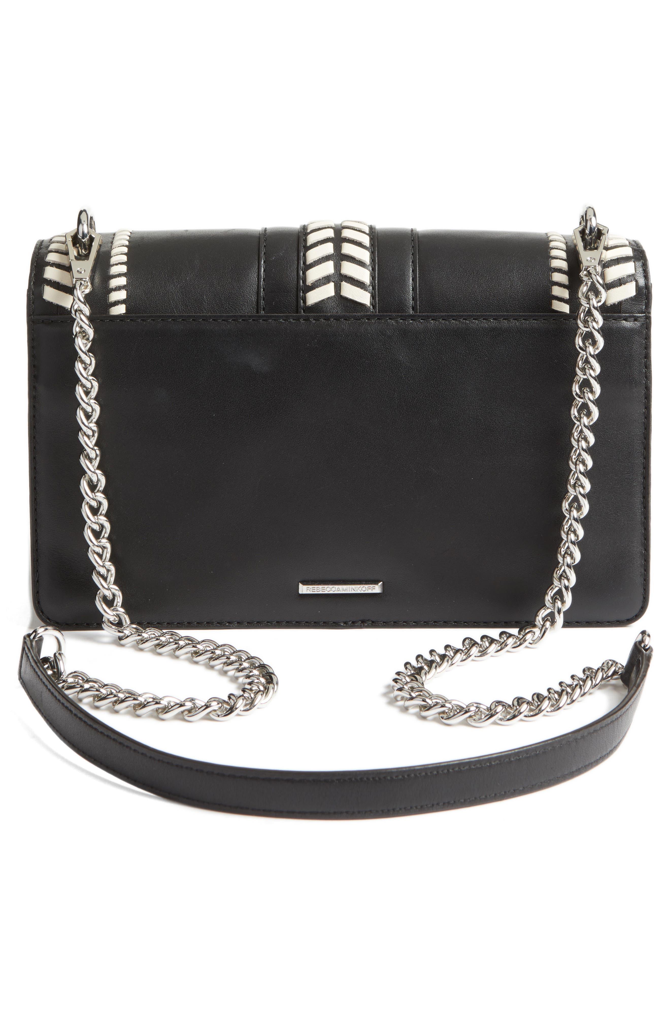 Love Leather Convertible Crossbody Bag,                             Alternate thumbnail 3, color,                             001