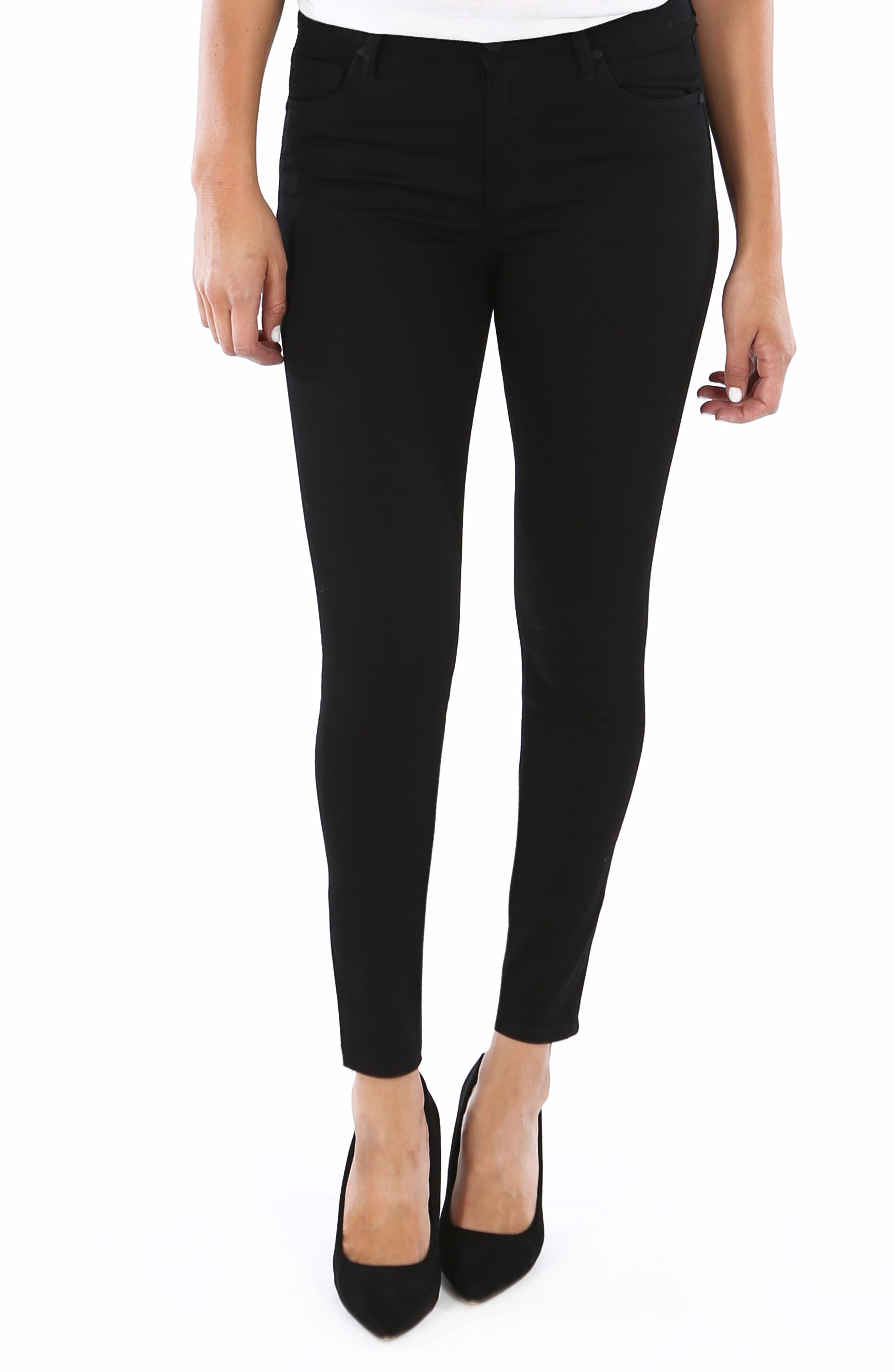 Petite Kut From The Kloth Donna High Waist Ankle Skinny Jeans, Black