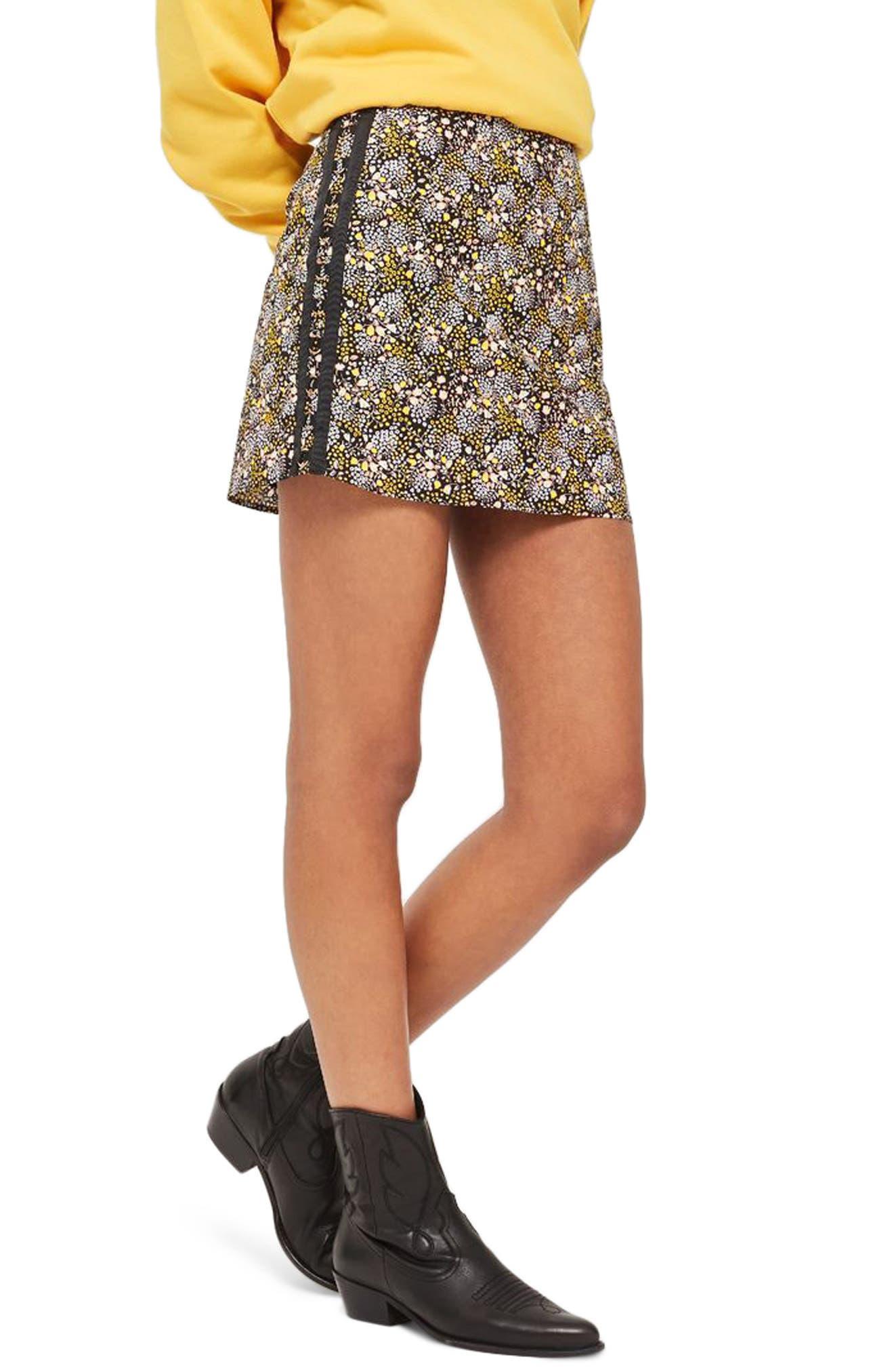 Ring Detail Miniskirt,                         Main,                         color,