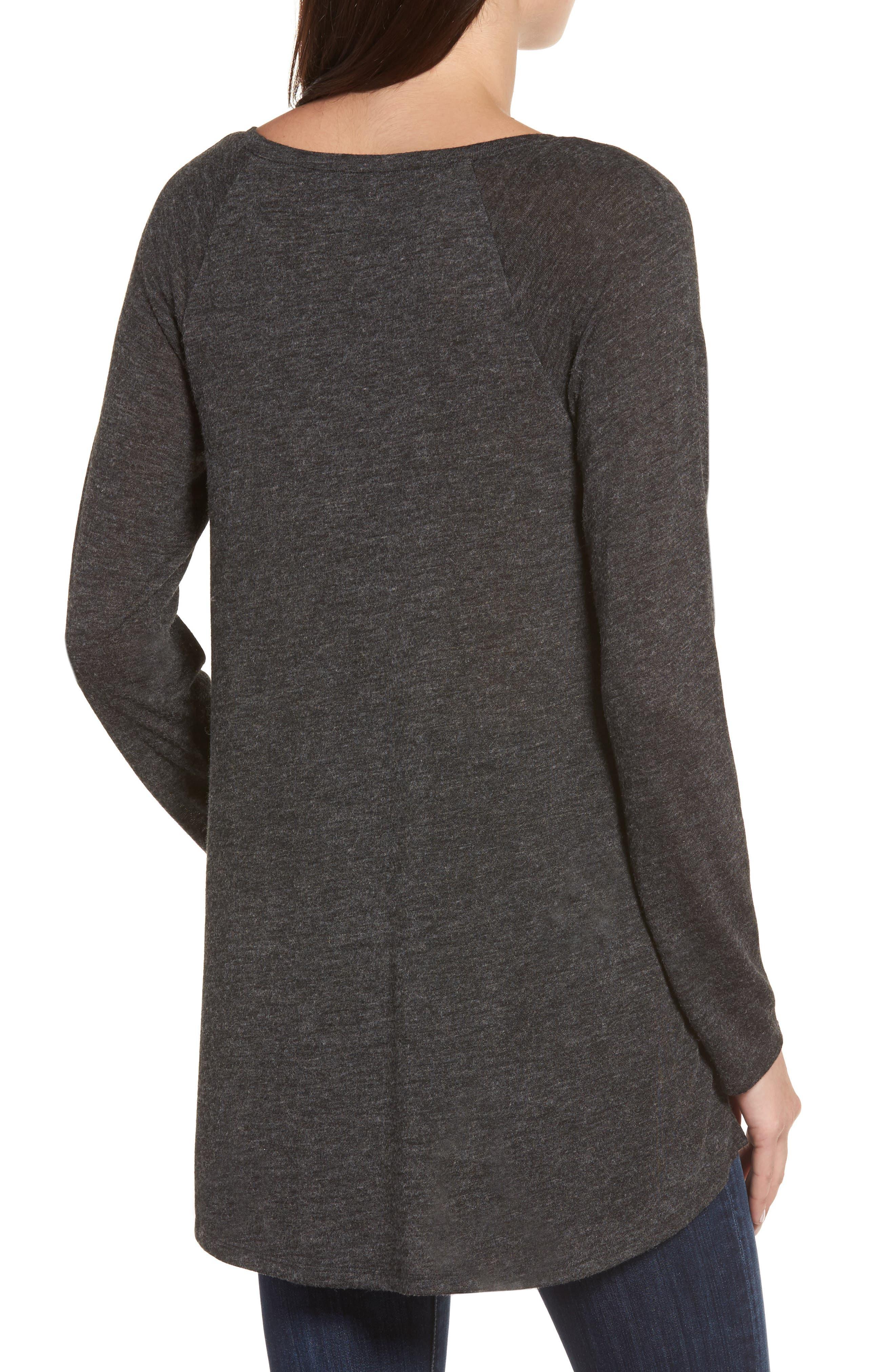 High/Low Tunic Sweatshirt,                             Alternate thumbnail 2, color,                             001