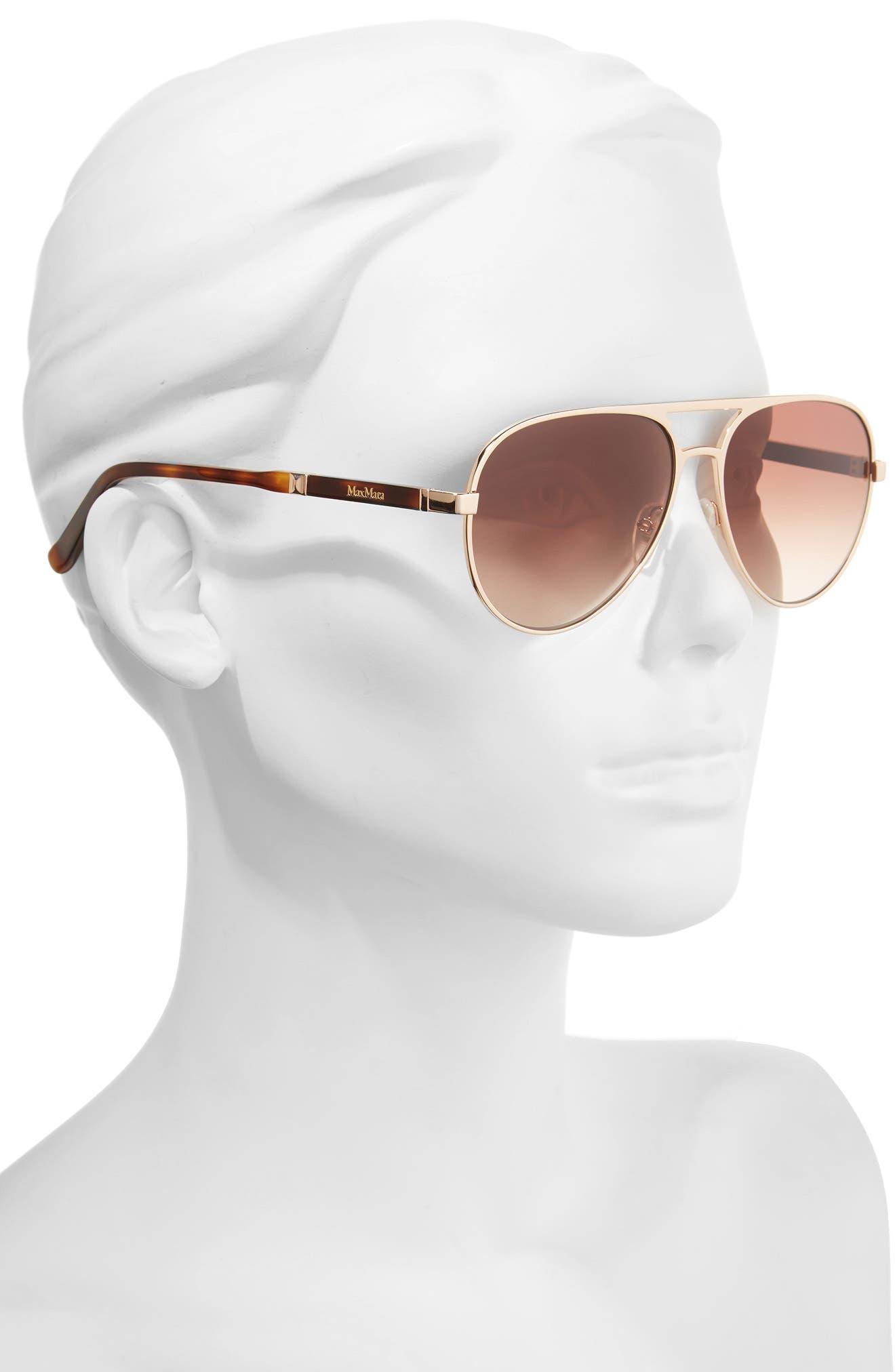 Desigs 57mm Gradient Aviator Sunglasses,                             Alternate thumbnail 2, color,                             710