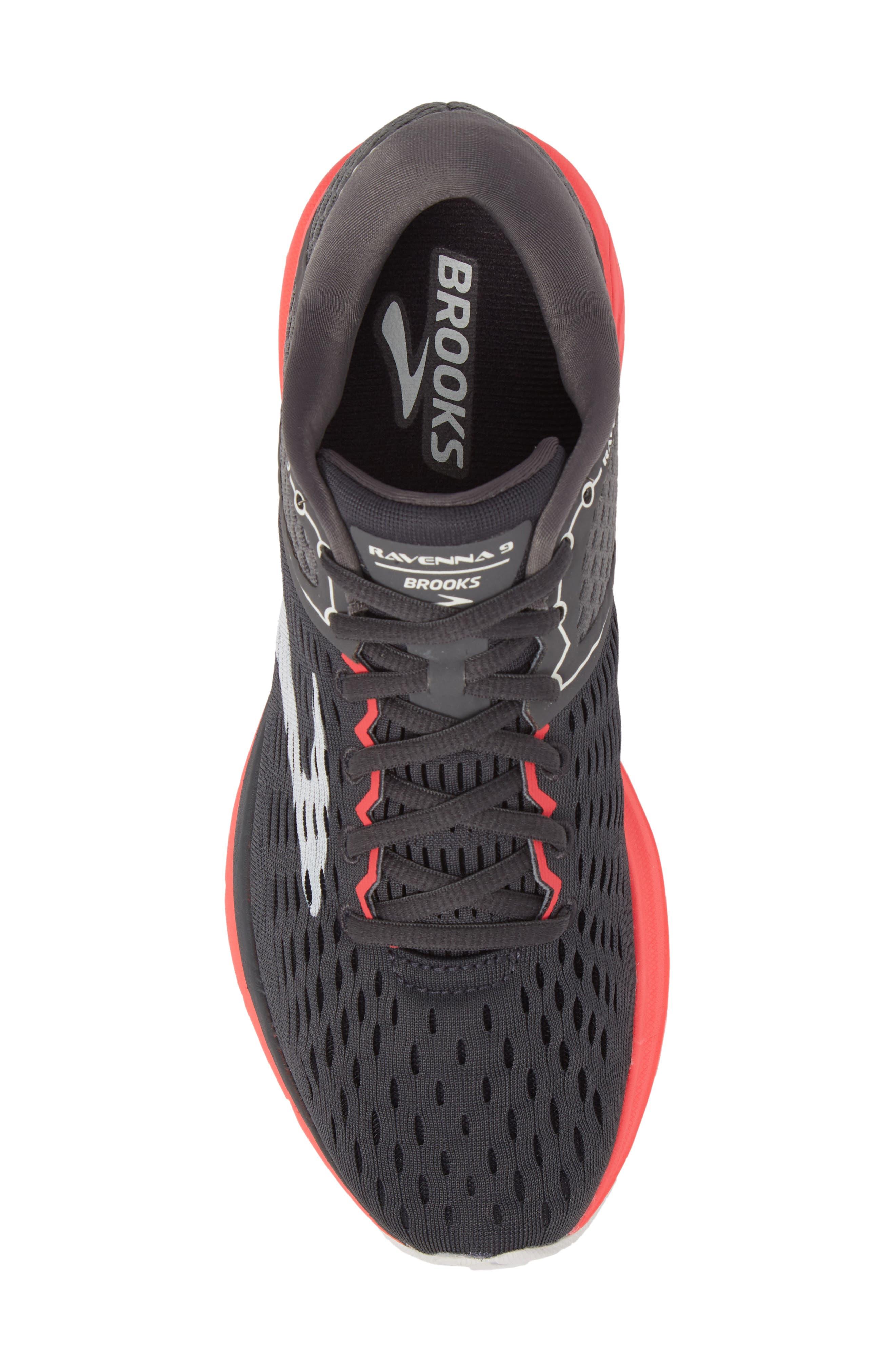 Ravenna 9 Running Shoe,                             Alternate thumbnail 5, color,                             EBONY/ DIVA PINK/ WHITE