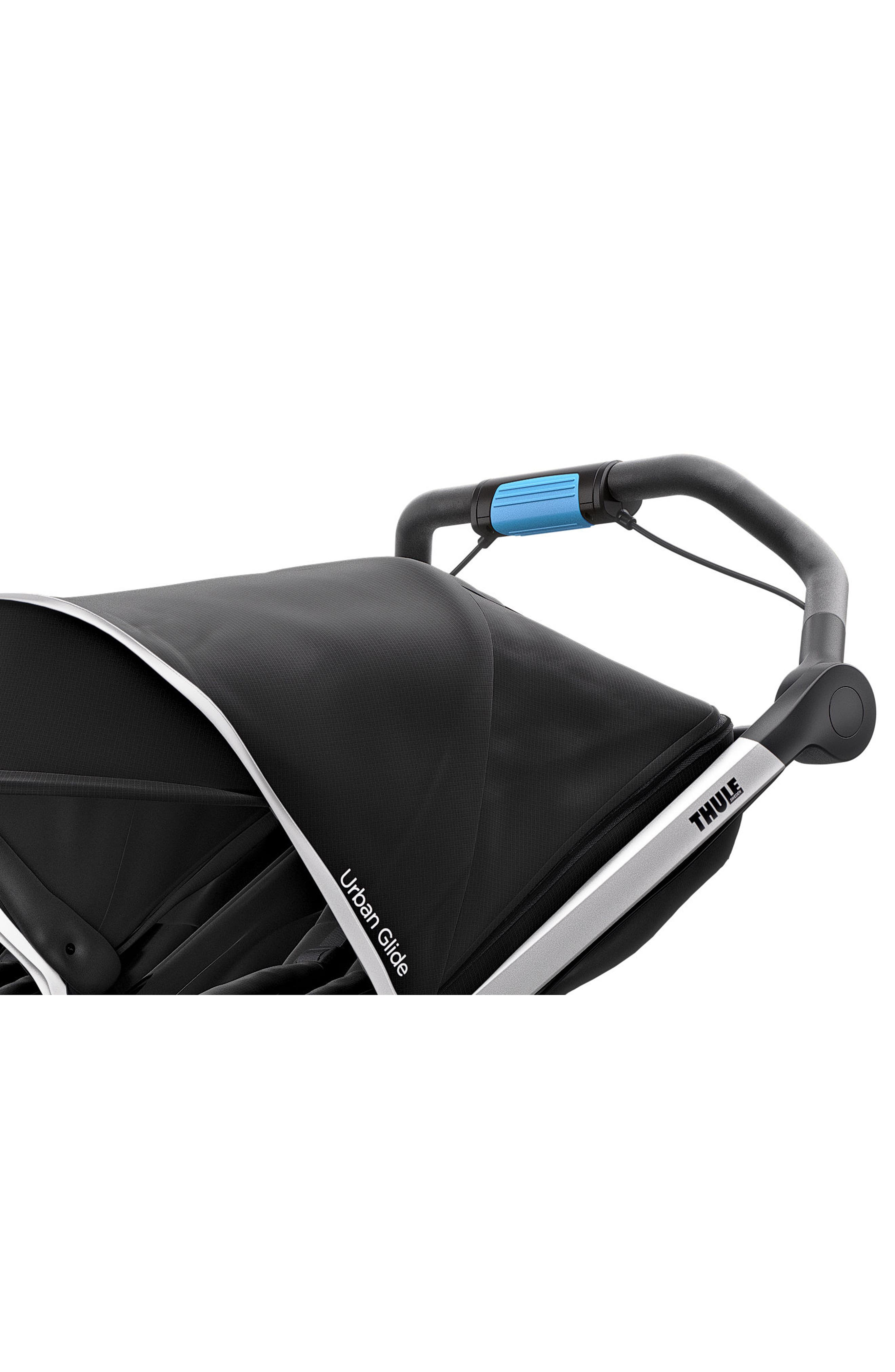 Urban Glide 2 Double Jogging Stroller,                             Alternate thumbnail 4, color,                             BLACK/ SILVER FRAME