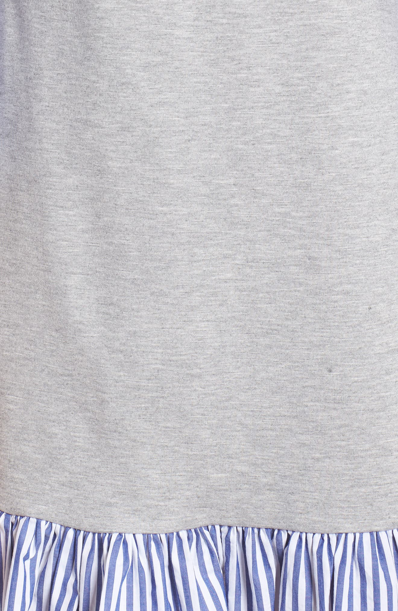Flounce Hem Sweatshirt Dress,                             Alternate thumbnail 5, color,                             030