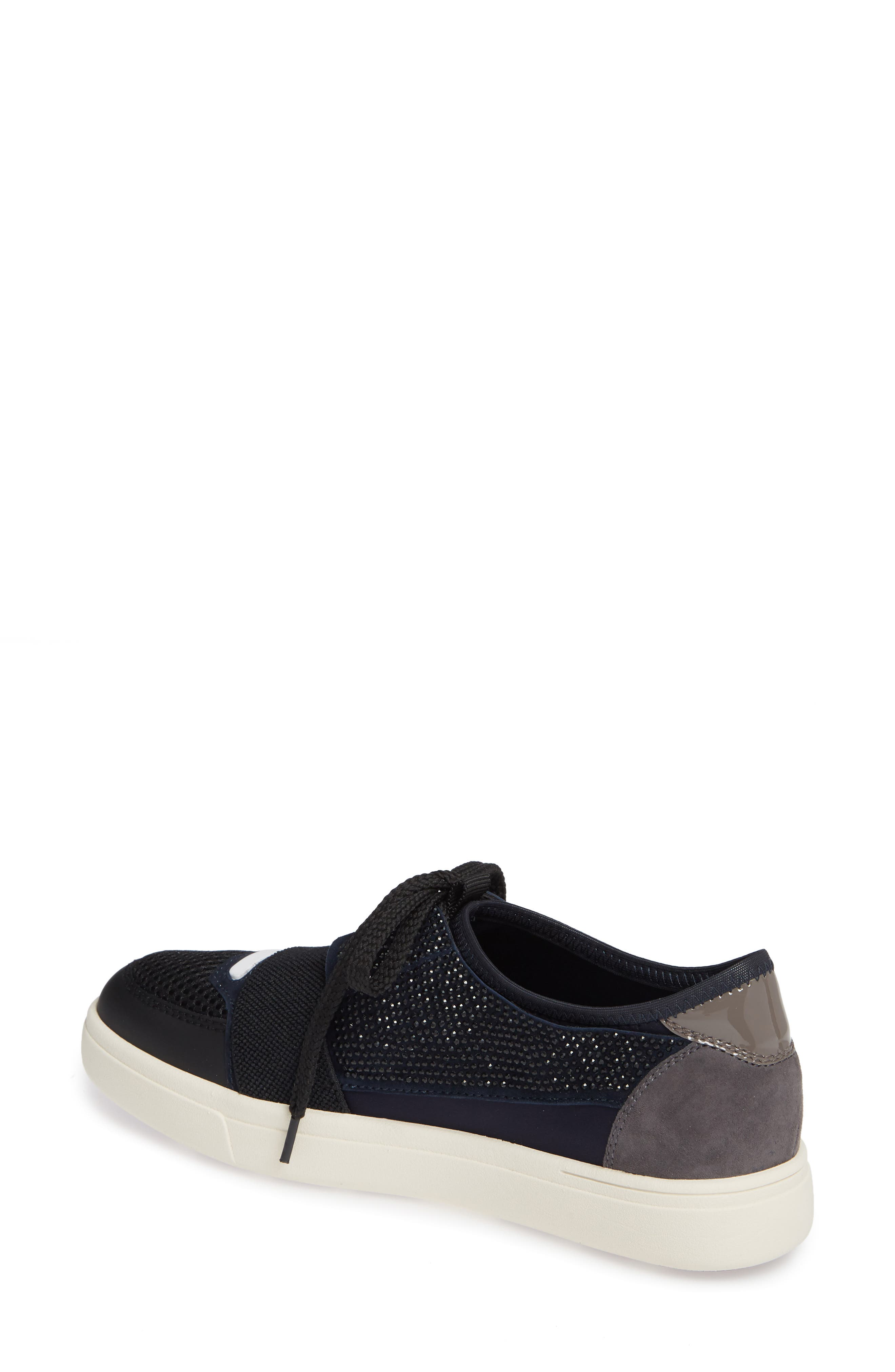 Onella Lace-Up Sneaker,                             Alternate thumbnail 2, color,                             BLACK/ NAVY/ GREY MULTI