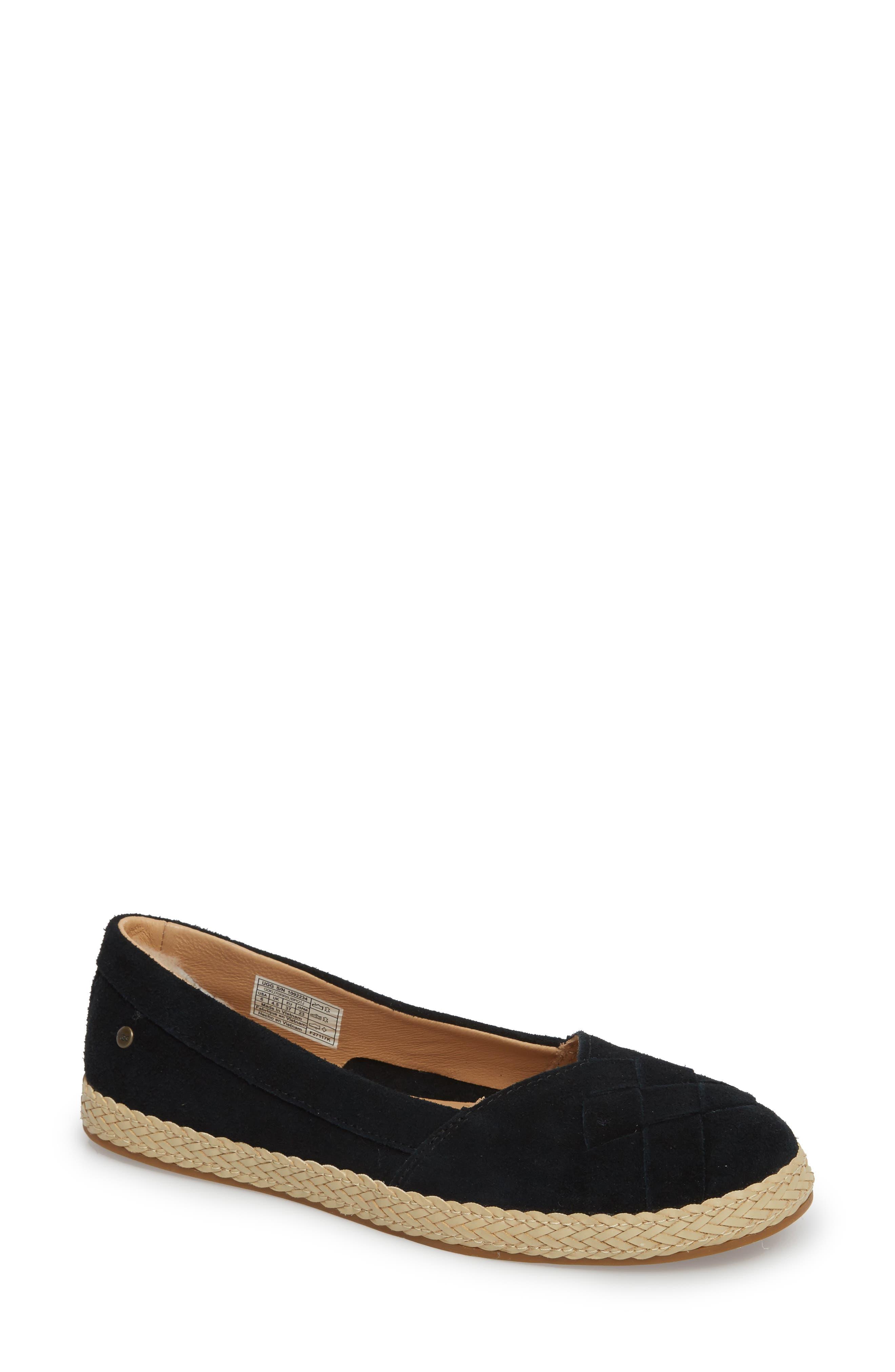 Clarissa Flat,                         Main,                         color, BLACK SUEDE