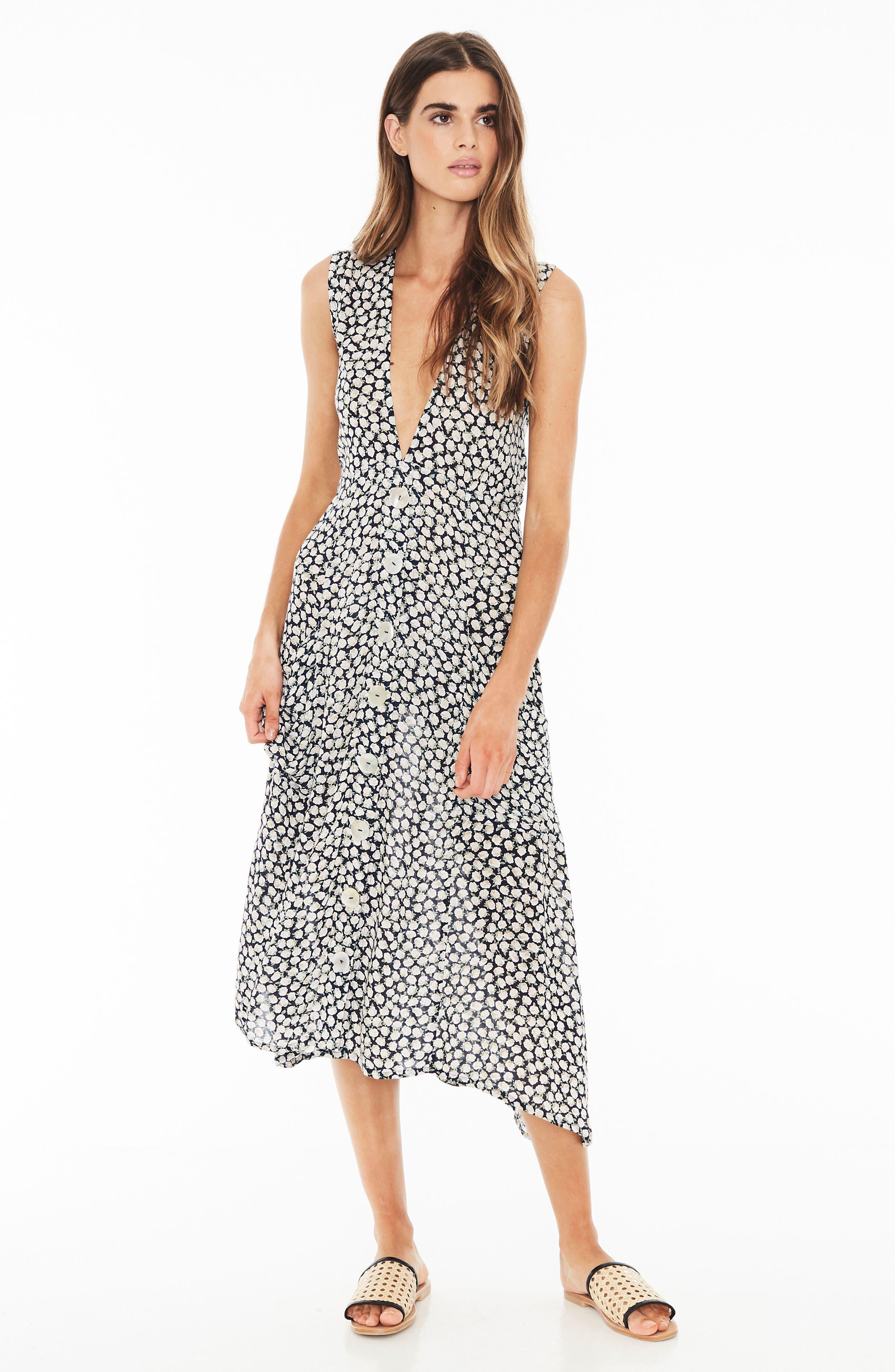 Blohm Print Midi Dress,                             Alternate thumbnail 4, color,                             400