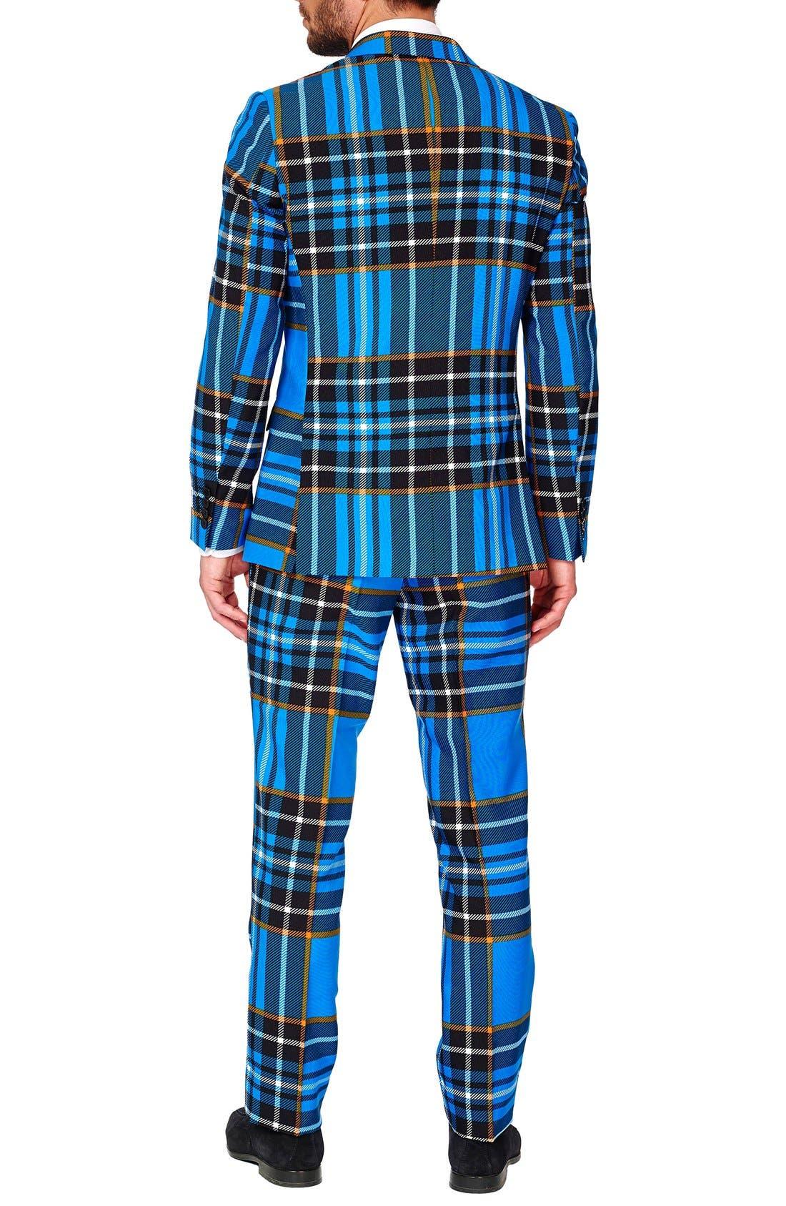 'Braveheart' Trim Fit Suit with Tie,                             Alternate thumbnail 2, color,                             421