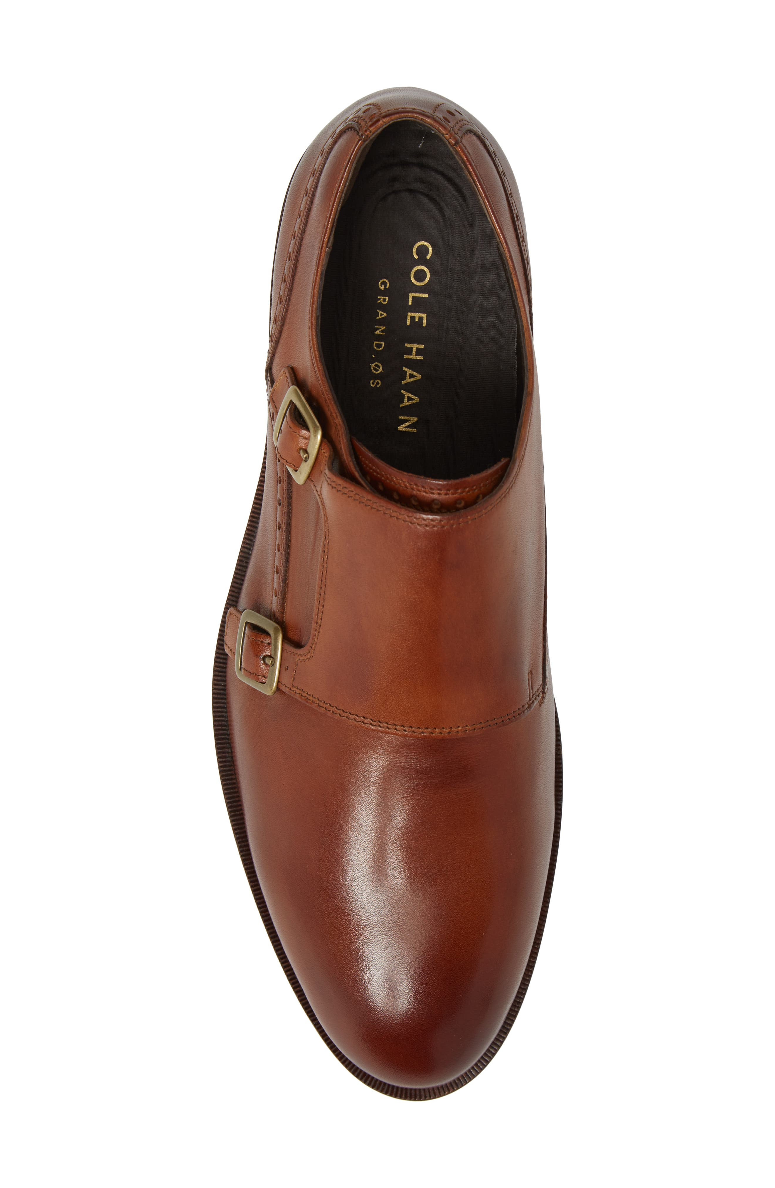 'Harrison' Double Monk Strap Shoe,                             Alternate thumbnail 6, color,                             BRITISH TAN LEATHER
