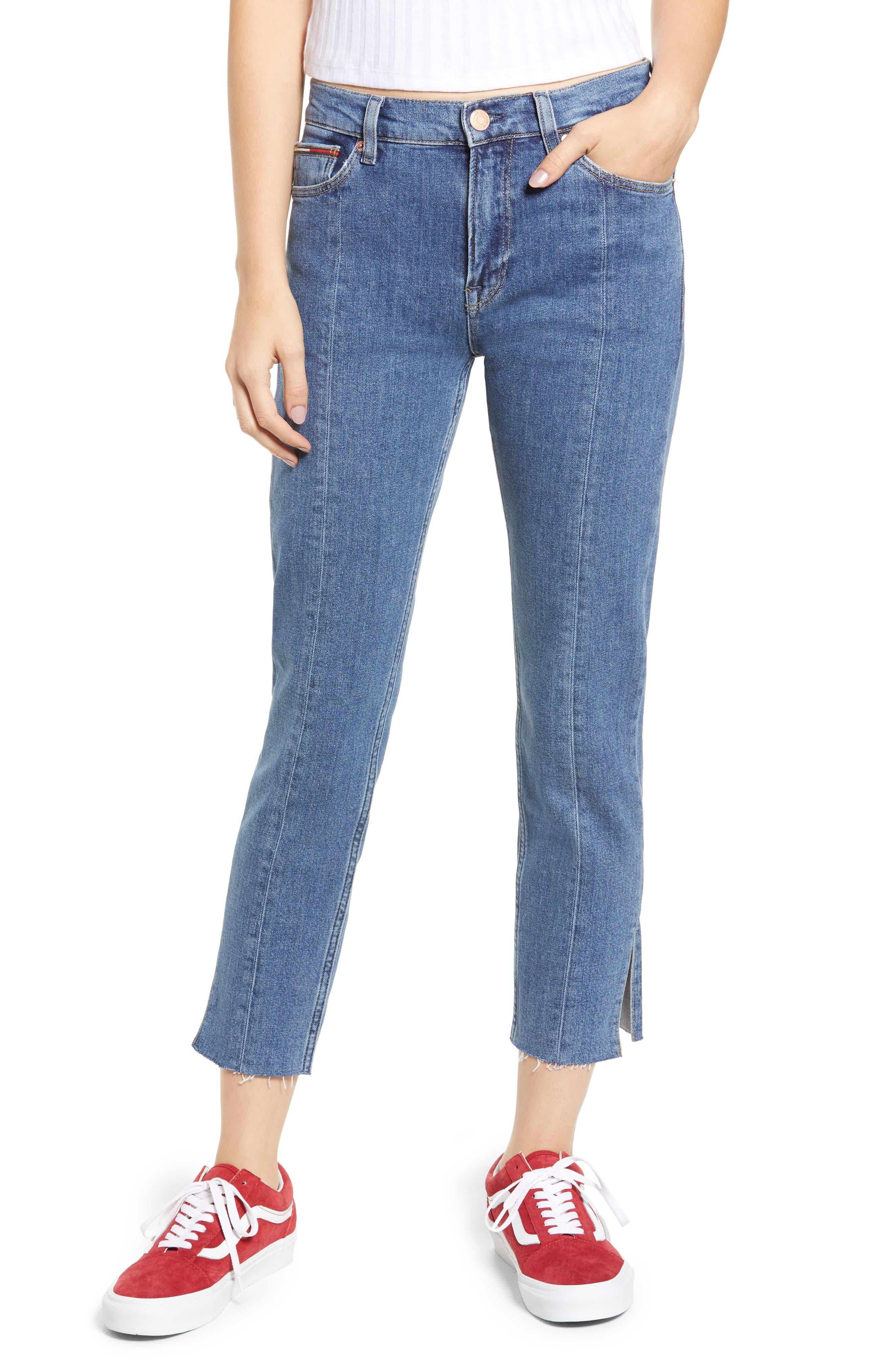 Izzy High Rise Center Seam Slim Jeans,                             Main thumbnail 1, color,                             400
