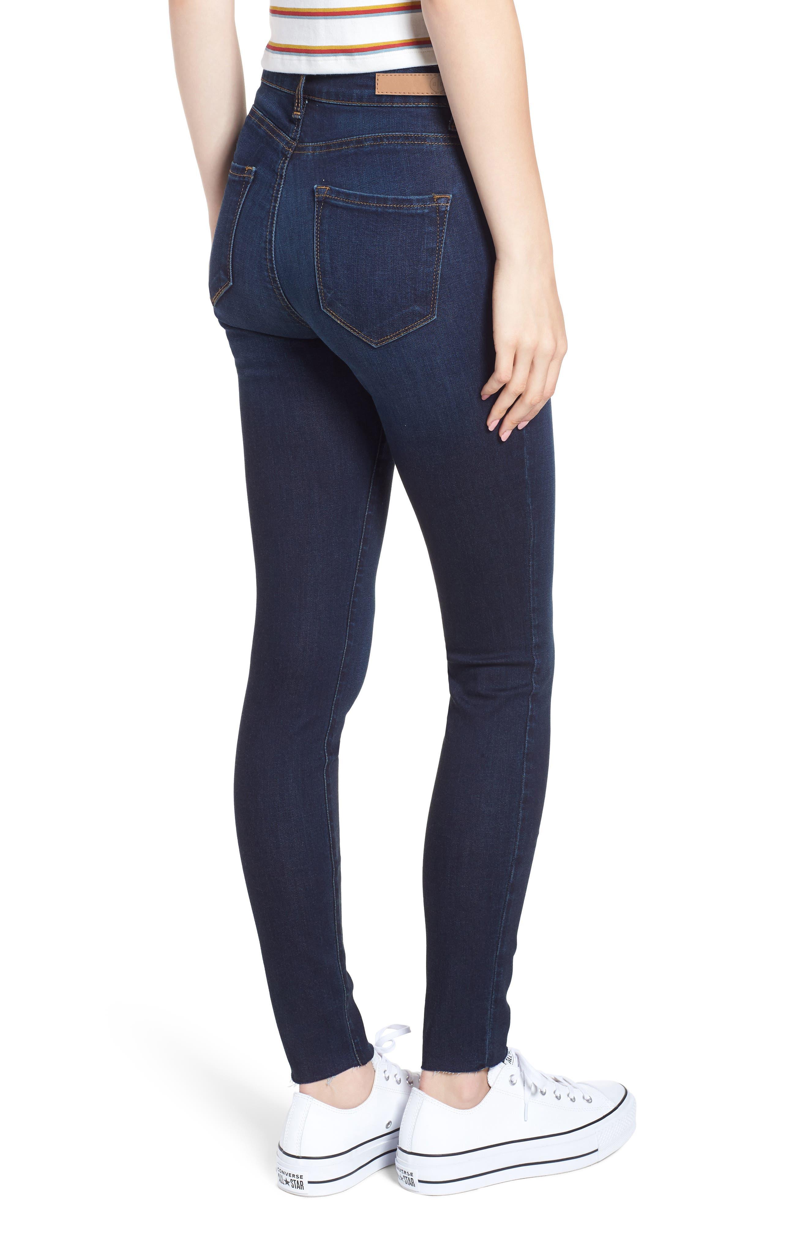 High Waist Cutoff Skinny Jeans,                             Alternate thumbnail 2, color,                             400