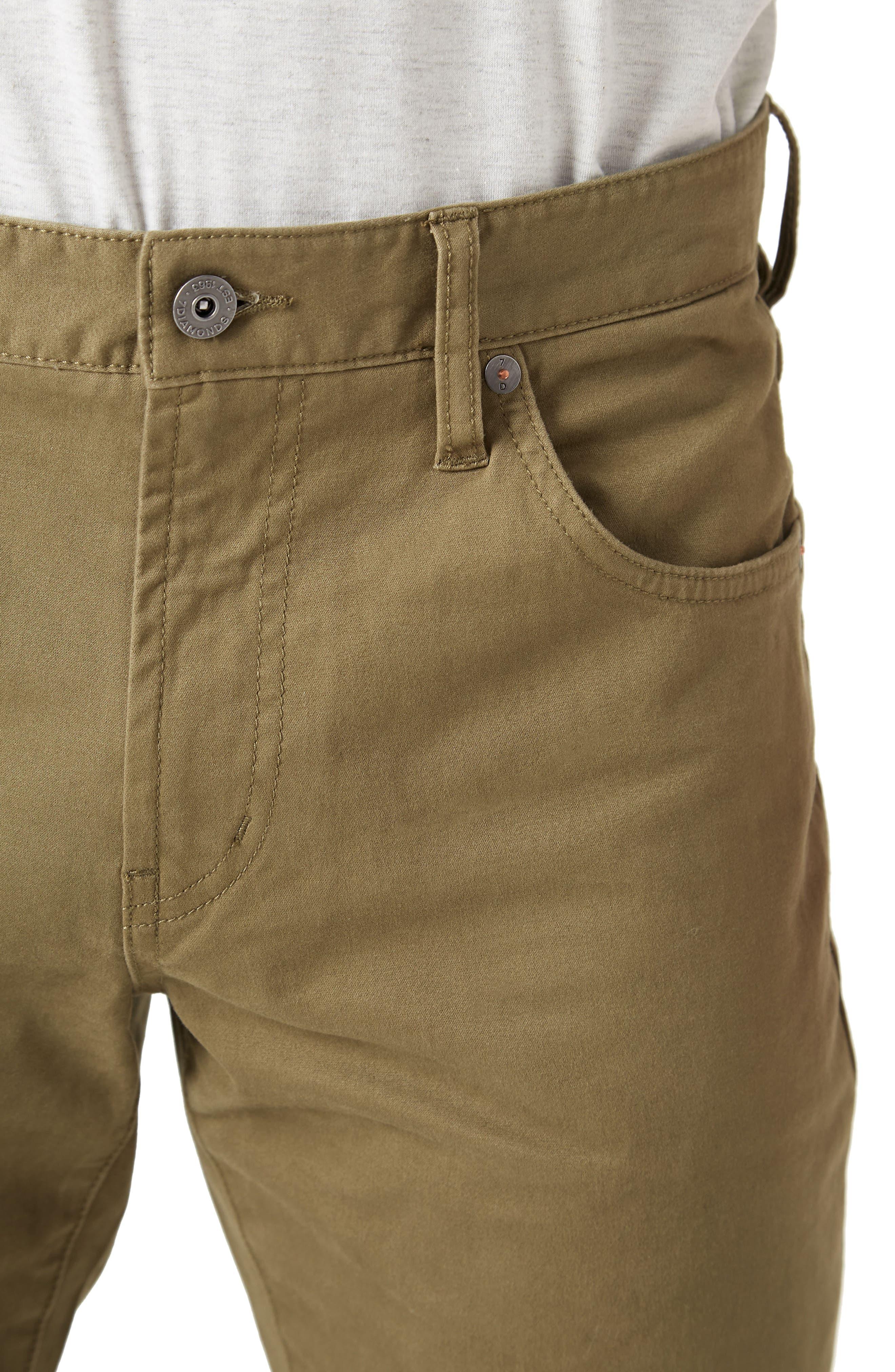 Brushed Twill Five-Pocket Pants,                             Alternate thumbnail 4, color,                             CHIP