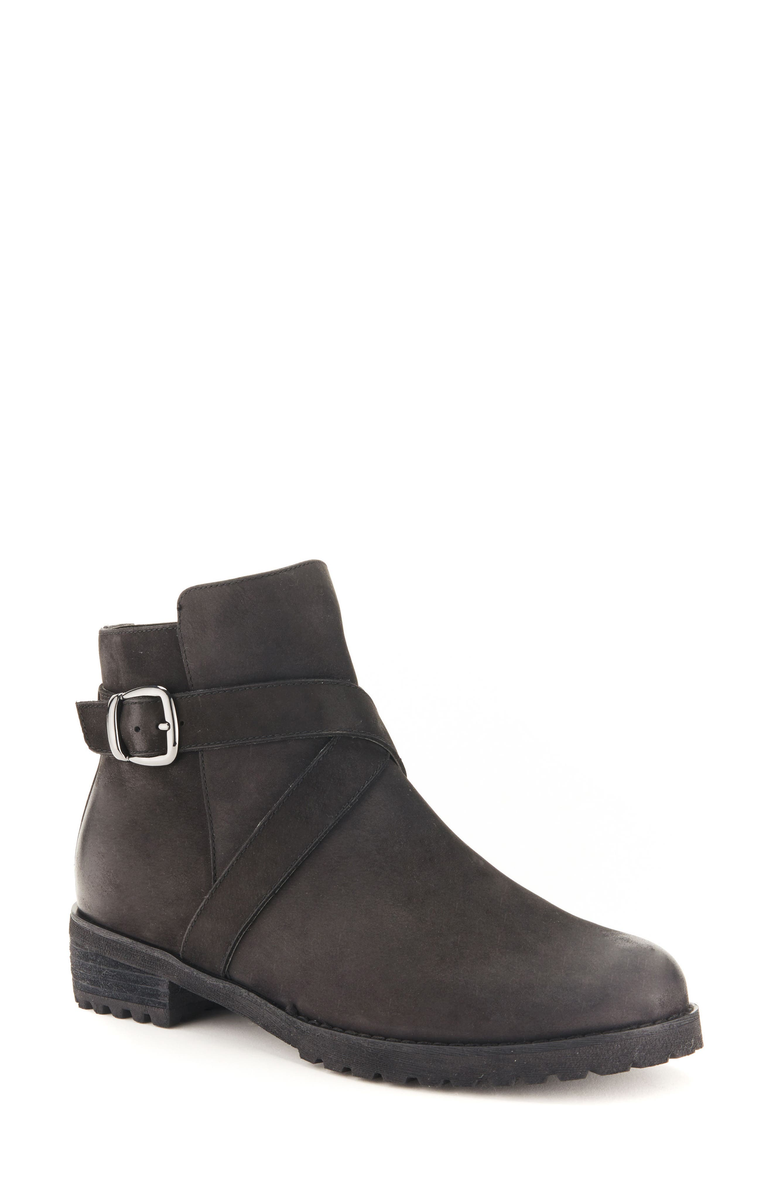 BLONDO Varta Waterproof Bootie, Main, color, BLACK NUBUCK LEATHER