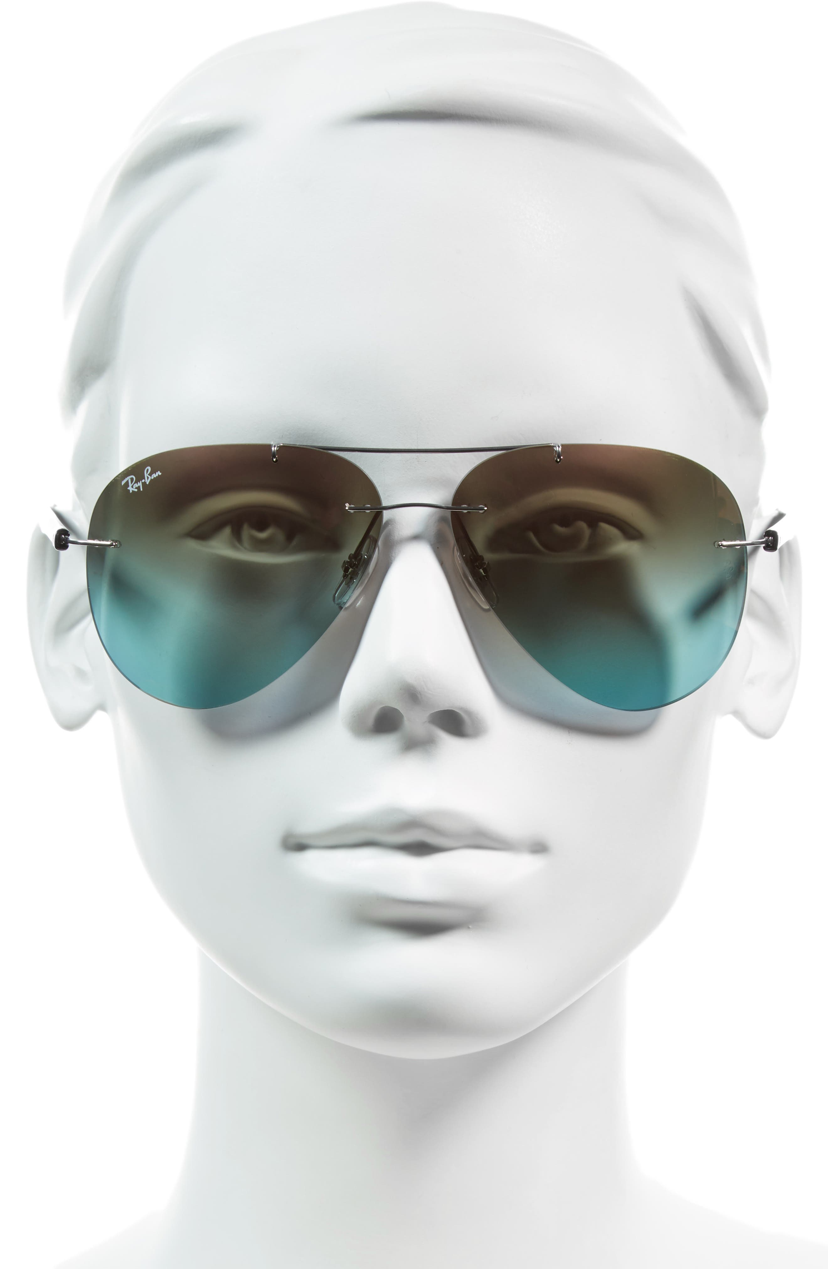 Tech 59mm Aviator Sunglasses,                             Alternate thumbnail 5, color,