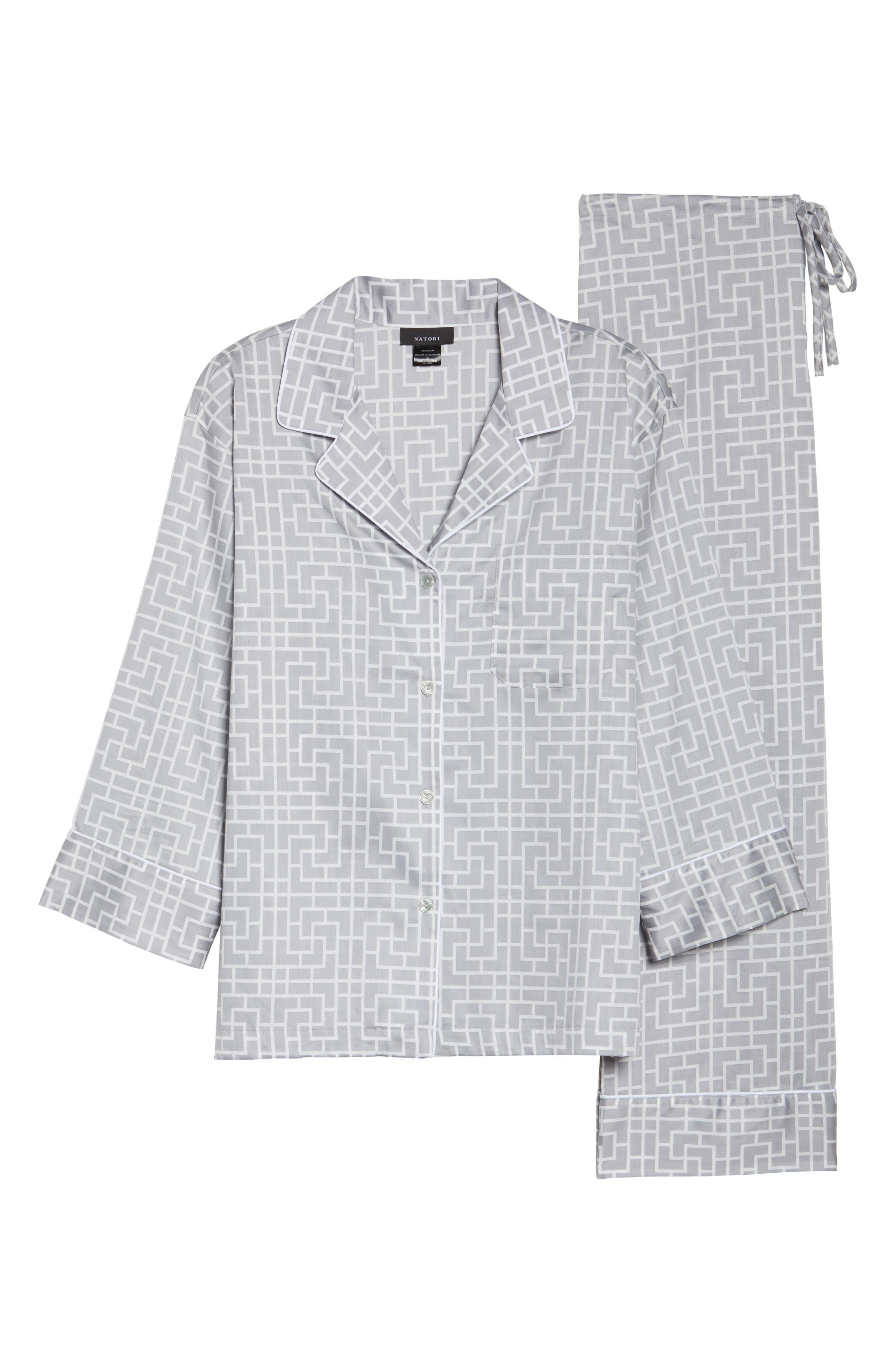 Abstract Maze Sateen Pajamas,                             Alternate thumbnail 6, color,                             020
