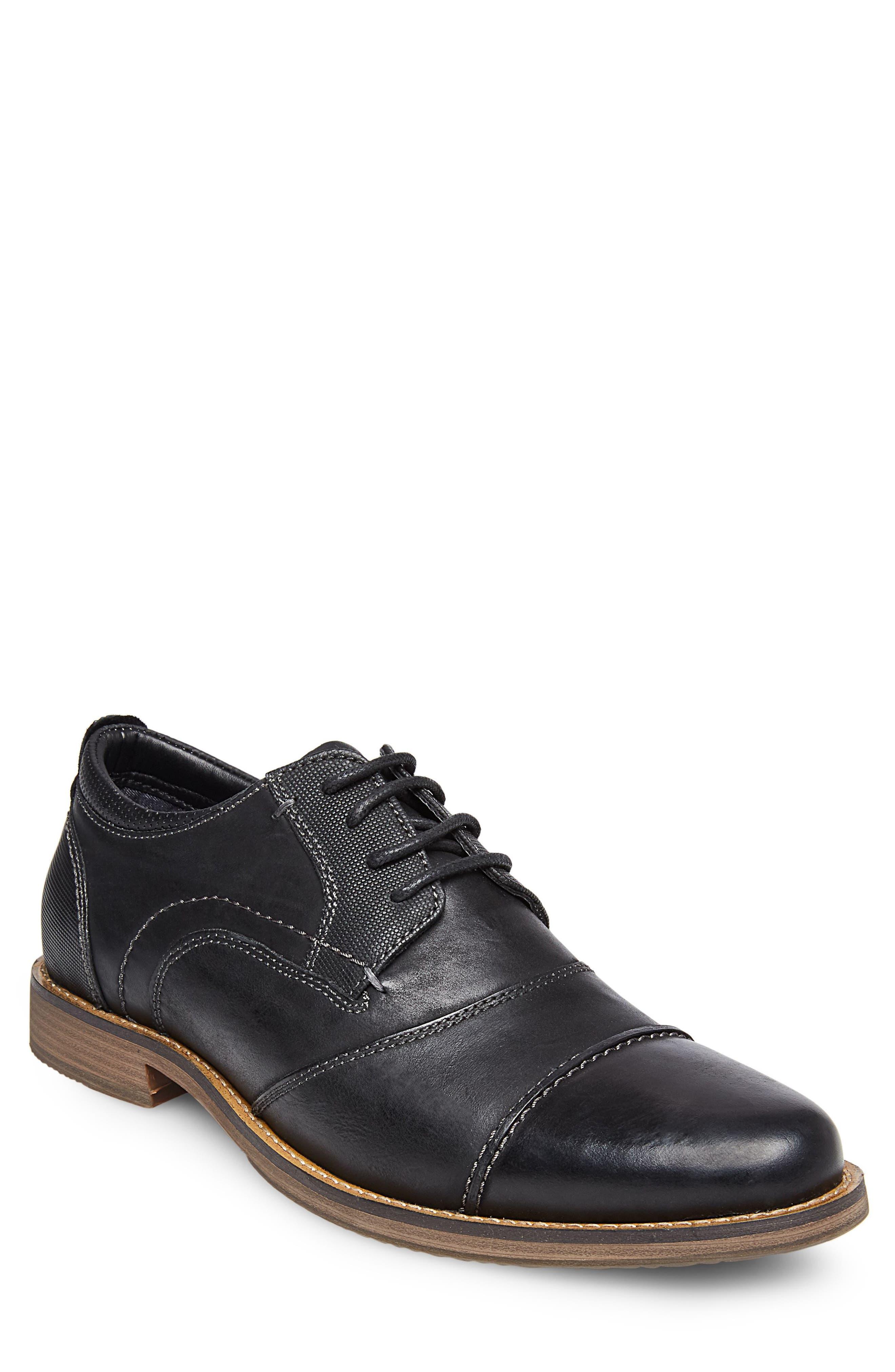 Pinsen Cap Toe Derby,                         Main,                         color, BLACK